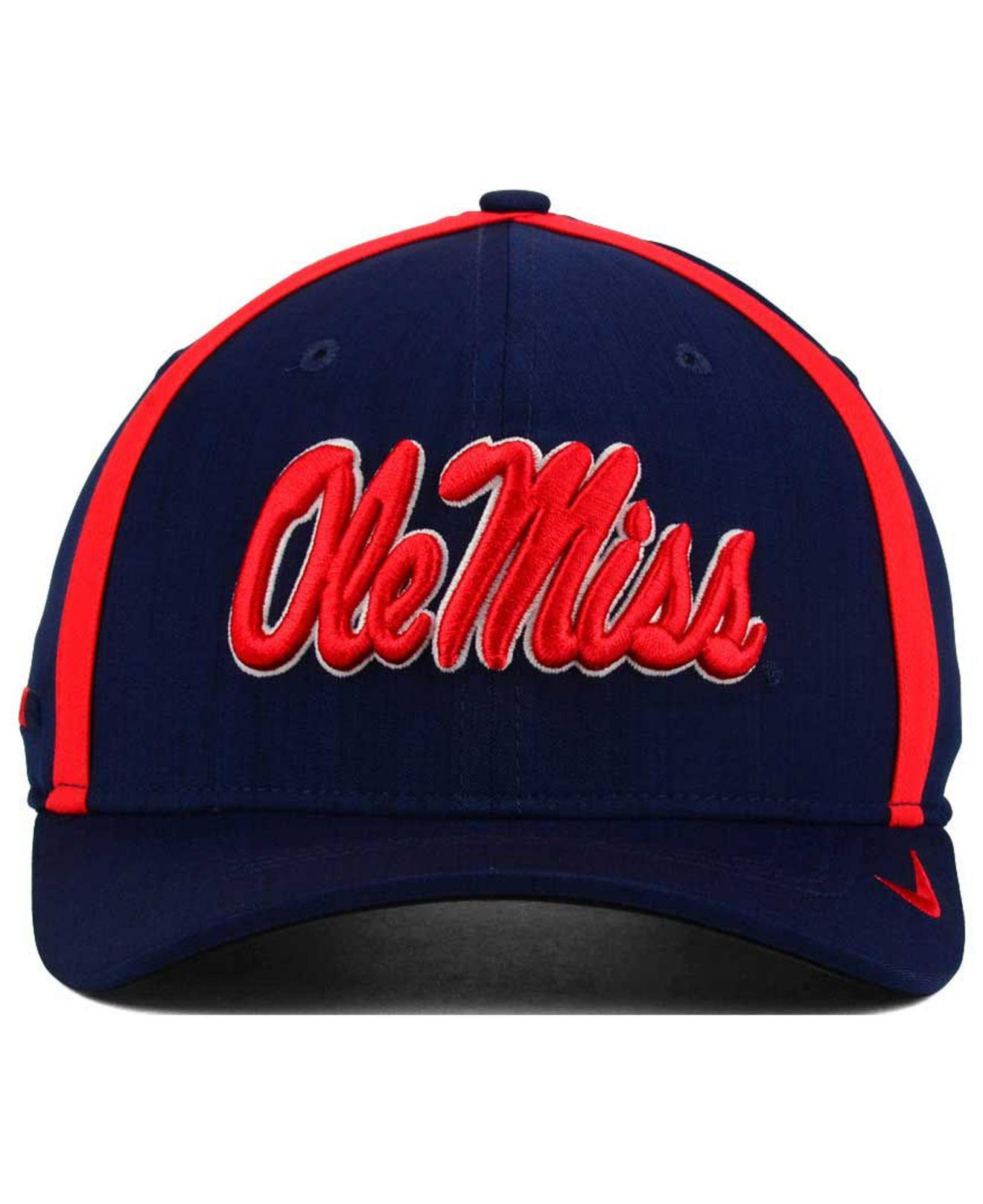 pretty nice 1edd1 5e346 ireland ole miss rebels ncaa nike local dri fit swoosh flex fitted hat  4079e 017ec  reduced lyst nike aerobill sideline coaches cap in blue for men  213bd ...