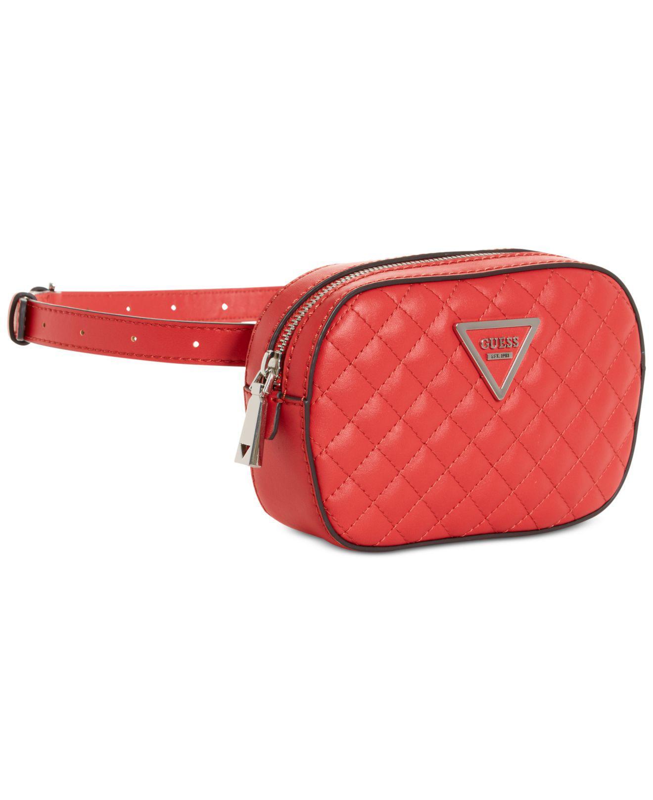 732a28aa95 Lyst - Guess Varsity Pop Mini Belt Bag in Red