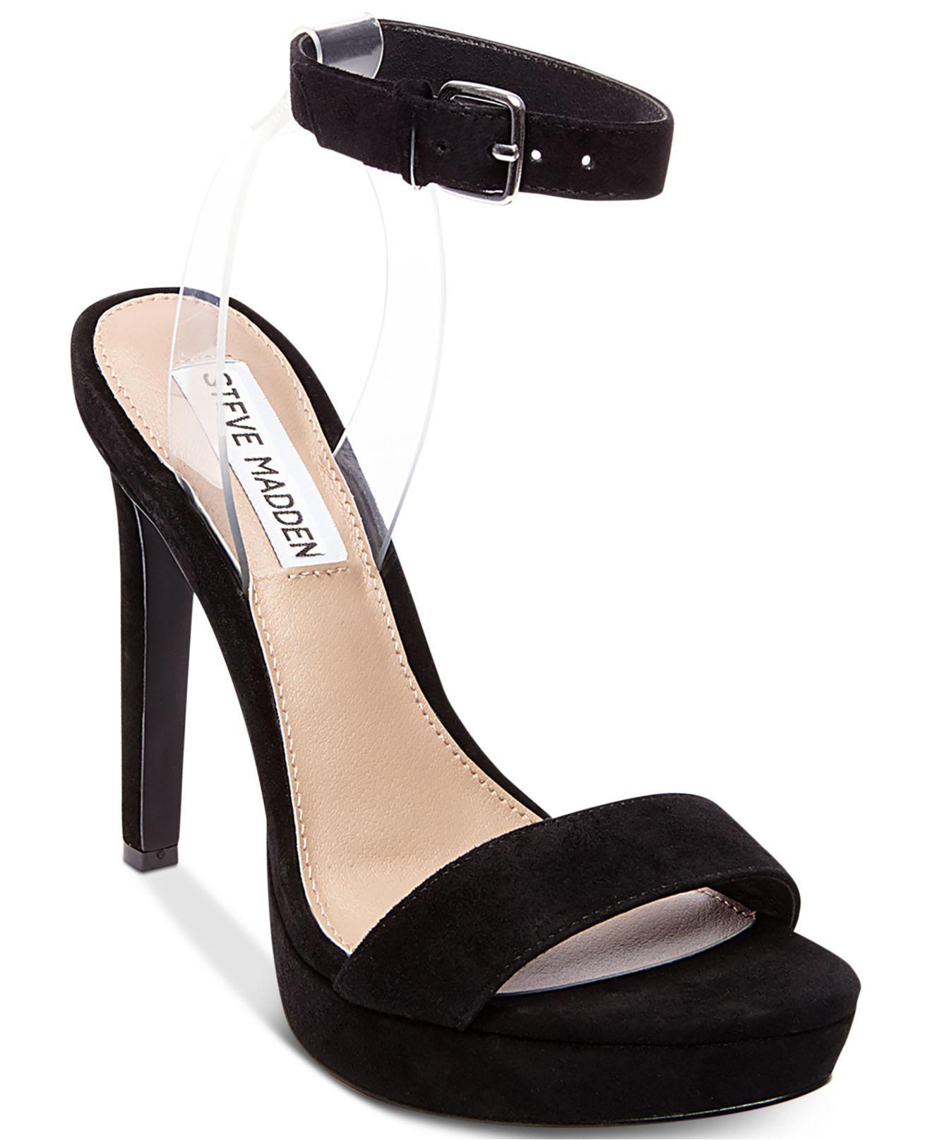 2e22fc47b810cc Steve Madden Women s Casita Two-piece Dress Sandals in Black - Lyst