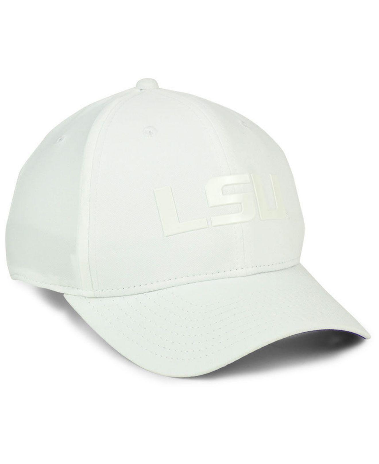 dd0a6409a7501 ... closeout nike white lsu tigers col cap for men lyst. view fullscreen  7e4a0 f6a19