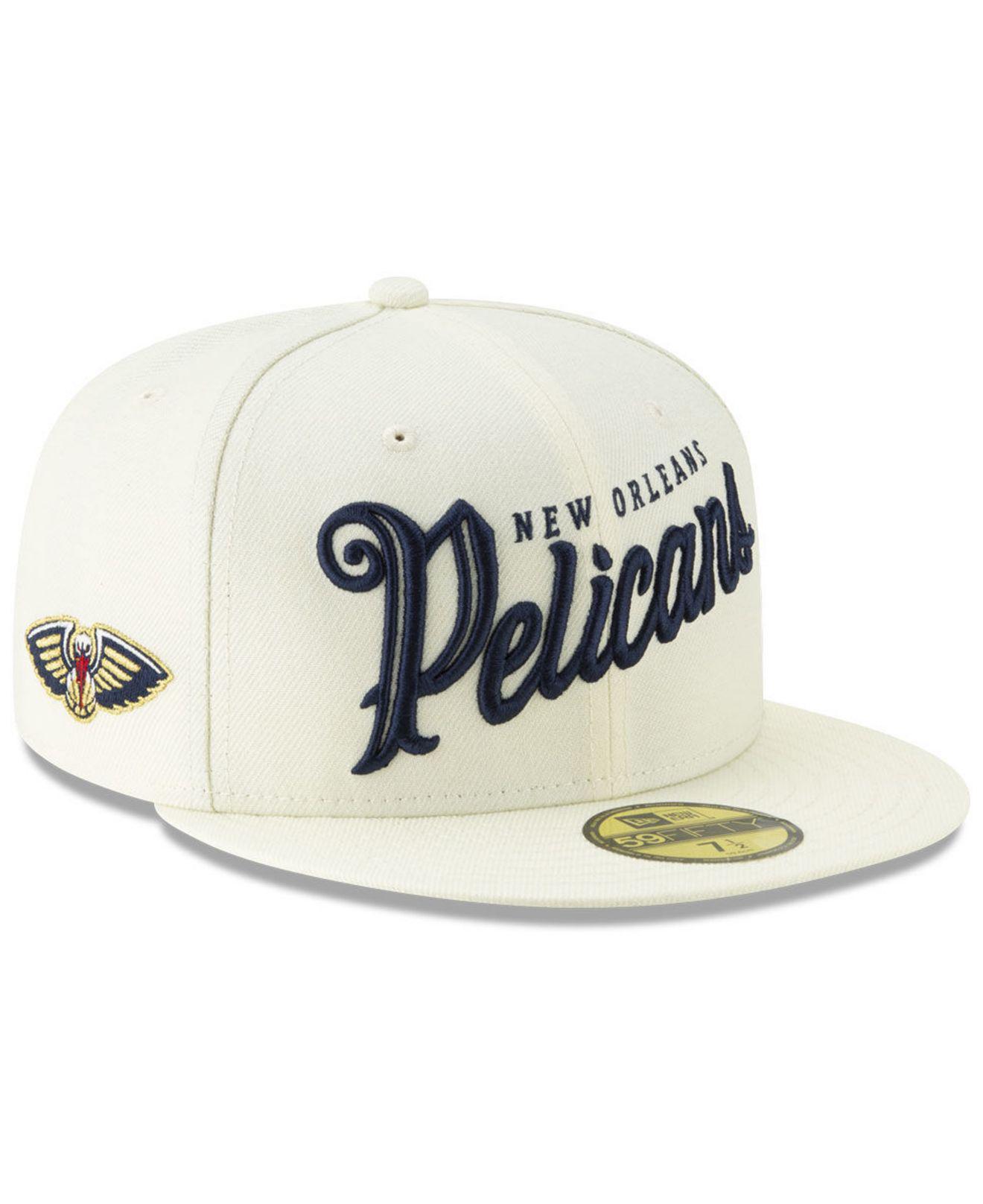 new arrival af350 d4b70 KTZ. Men s Natural New Orleans Pelicans Jersey Script 59fifty-fitted Cap