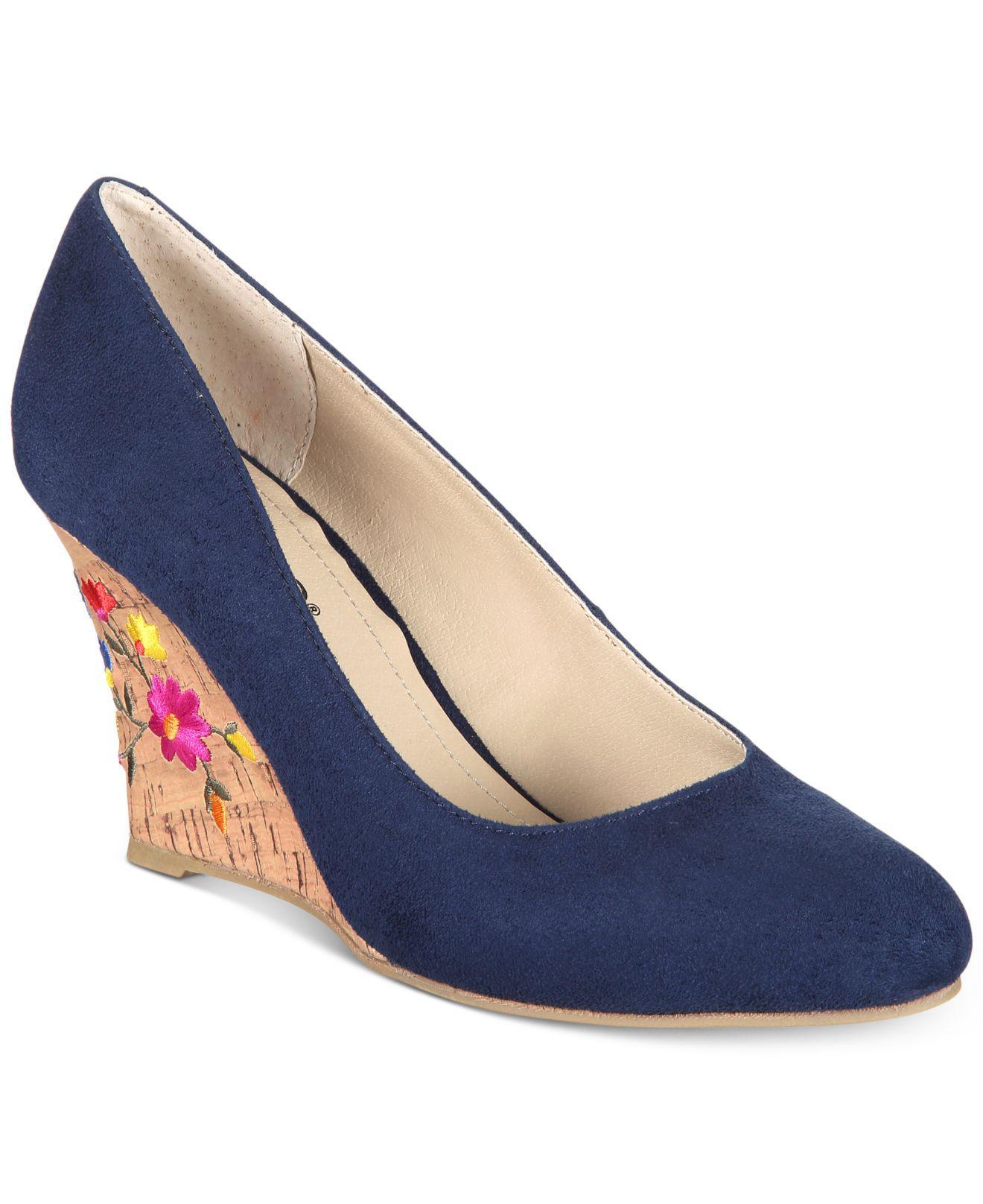 1f0dad3a7974 Lyst - Rialto Calypso Wedge Sandals in Blue