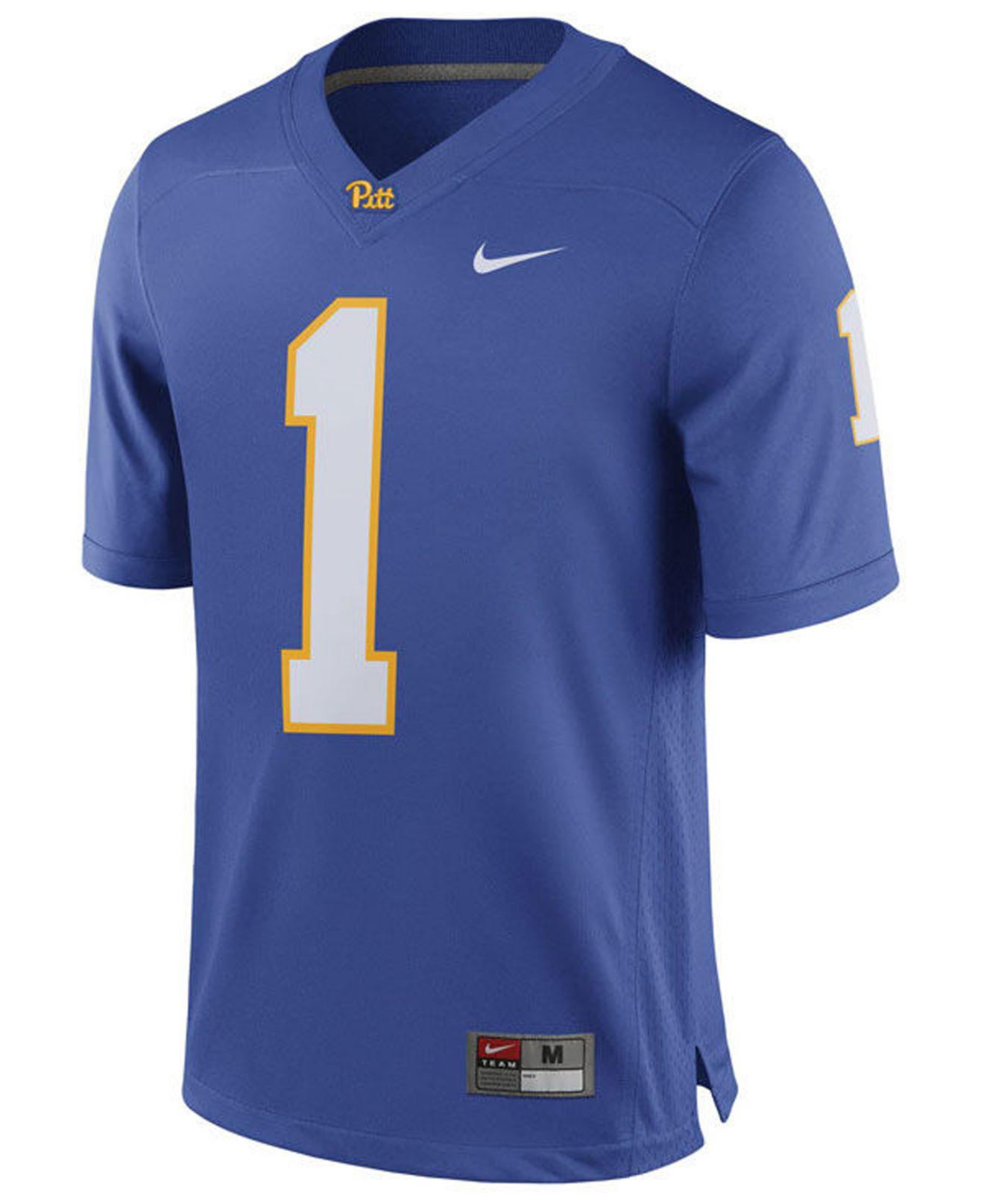 b0acbedae Lyst - Nike Pittsburgh Panthers Replica Football Game Jersey in Blue ...