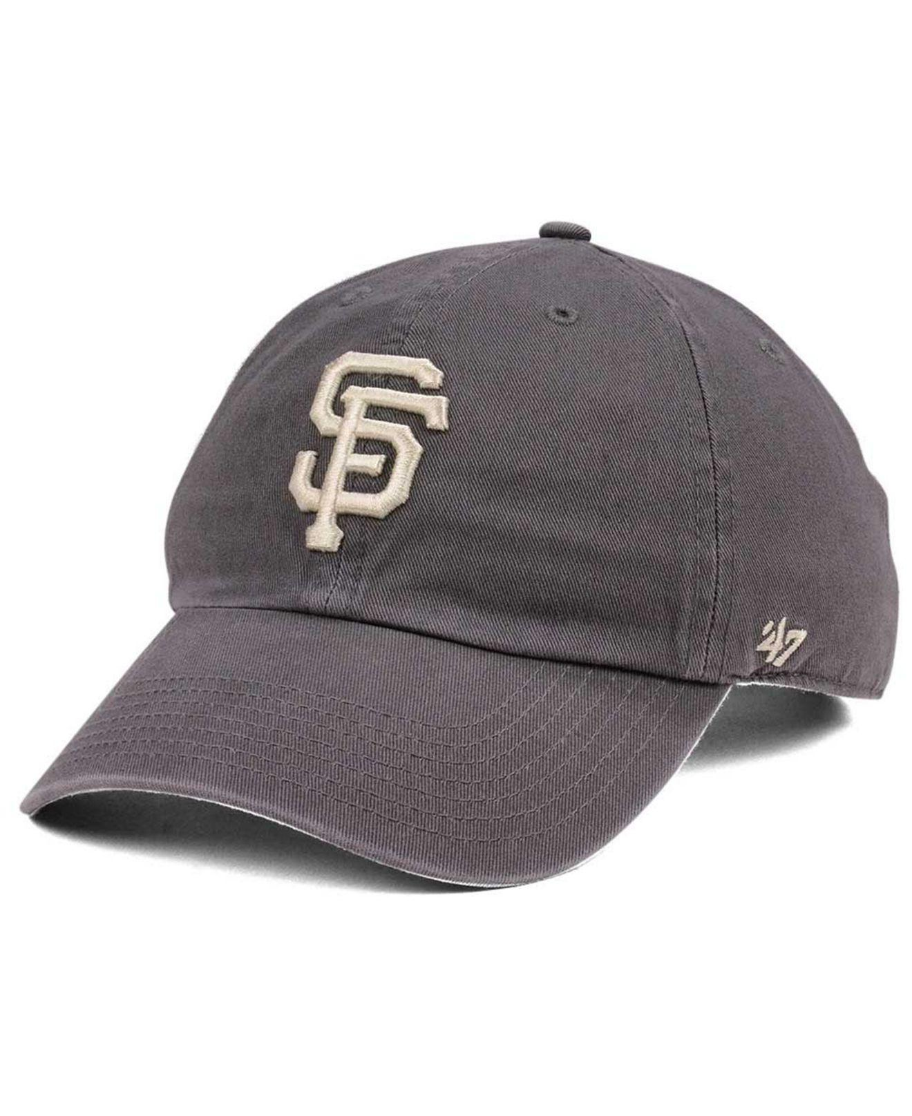 size 40 1f19a dd481 47 Brand. Men s San Francisco Giants Dark Gray Clean Up Cap