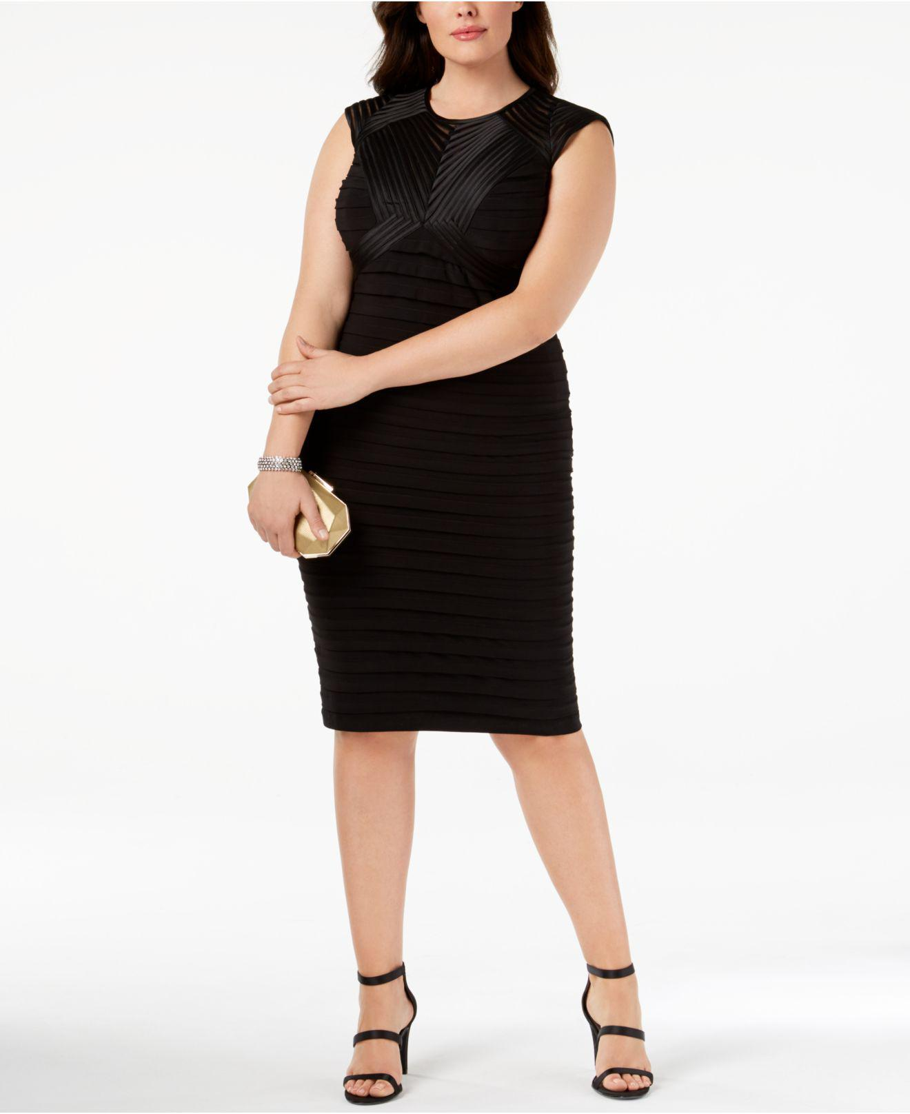 bff7fb62 Betsy & Adam Plus Size Banded Sheath Dress in Black - Lyst