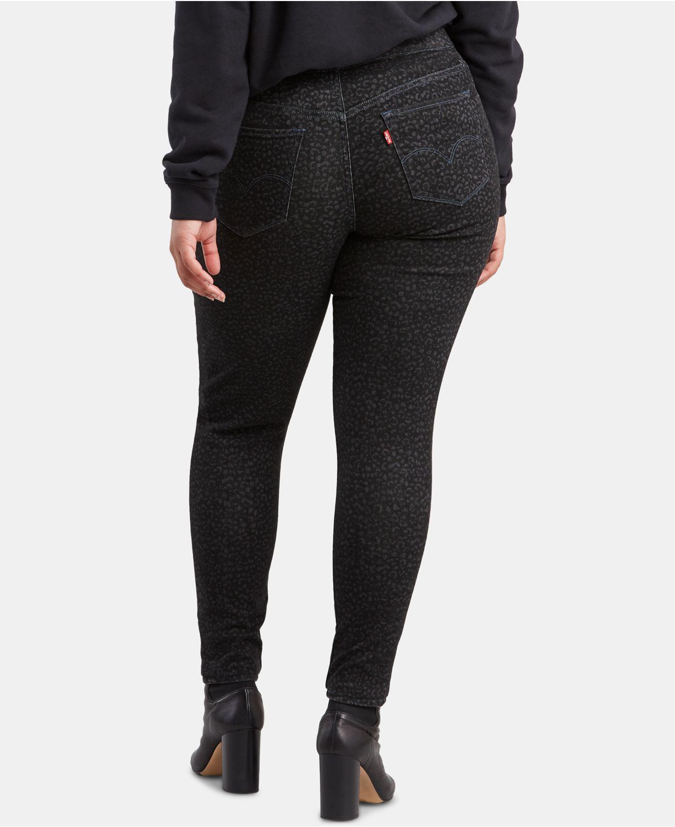b638cb321f6f0 Lyst - Levi's ® Trendy Plus Size Jeggings in Black