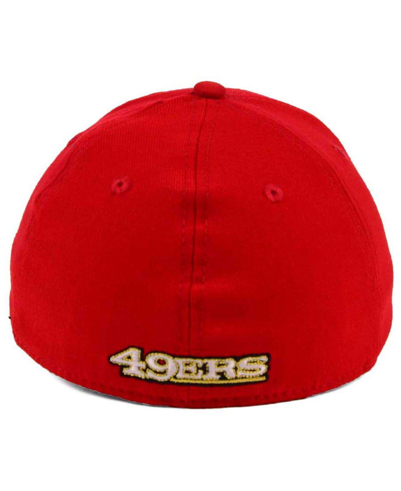 sports shoes d7812 fe703 KTZ - Red San Francisco 49ers New Team Classic 39thirty Cap for Men - Lyst.  View fullscreen