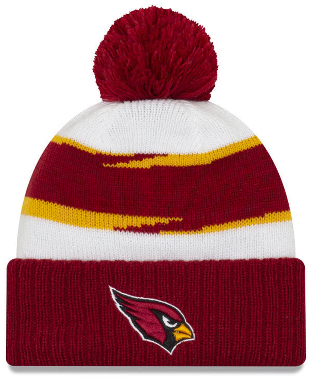 67f87e5b3c9 Lyst - Ktz Arizona Cardinals Thanksgiving Pom Knit Hat in Red for Men