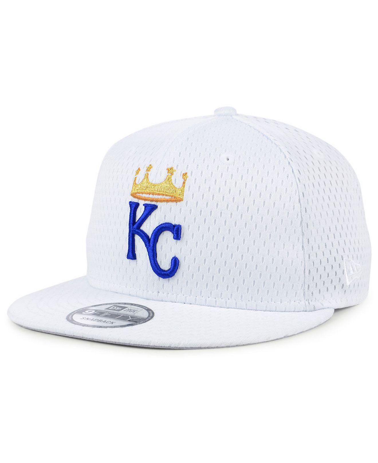 separation shoes cc9f8 543b7 KTZ Kansas City Royals Batting Practice Mesh 9fifty Snapback Cap in ...