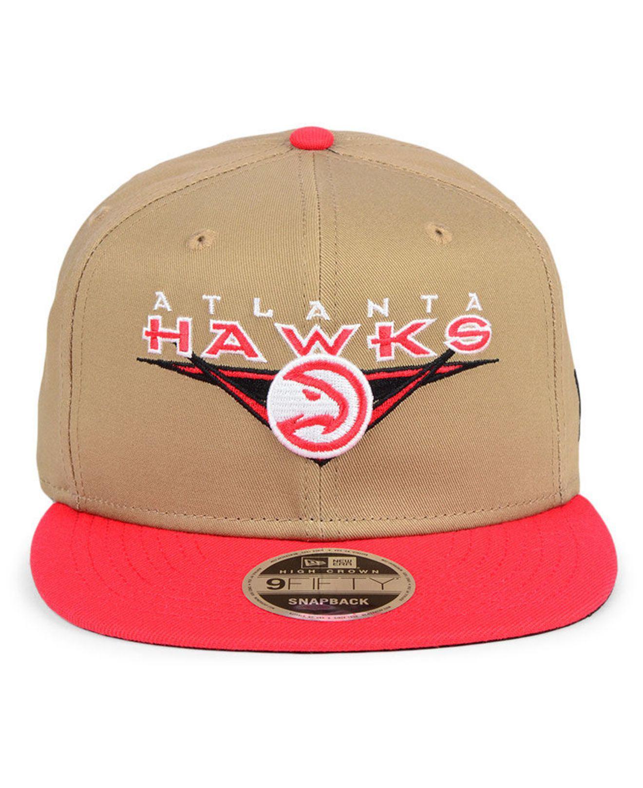 sneakers for cheap dcec5 cab4b Lyst - KTZ Atlanta Hawks Jack Knife 9fifty Snapback Cap in Red for Men