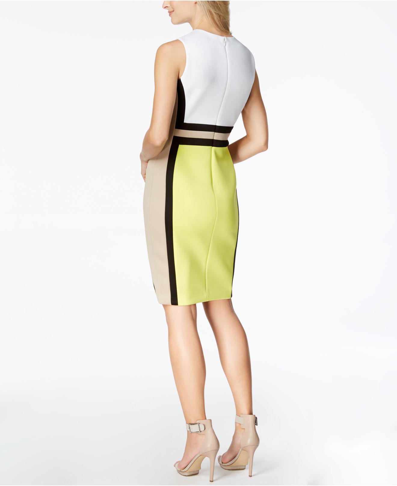 0096f0d3da5 Calvin Klein Petite Colorblocked Sheath Dress - Gomes Weine AG
