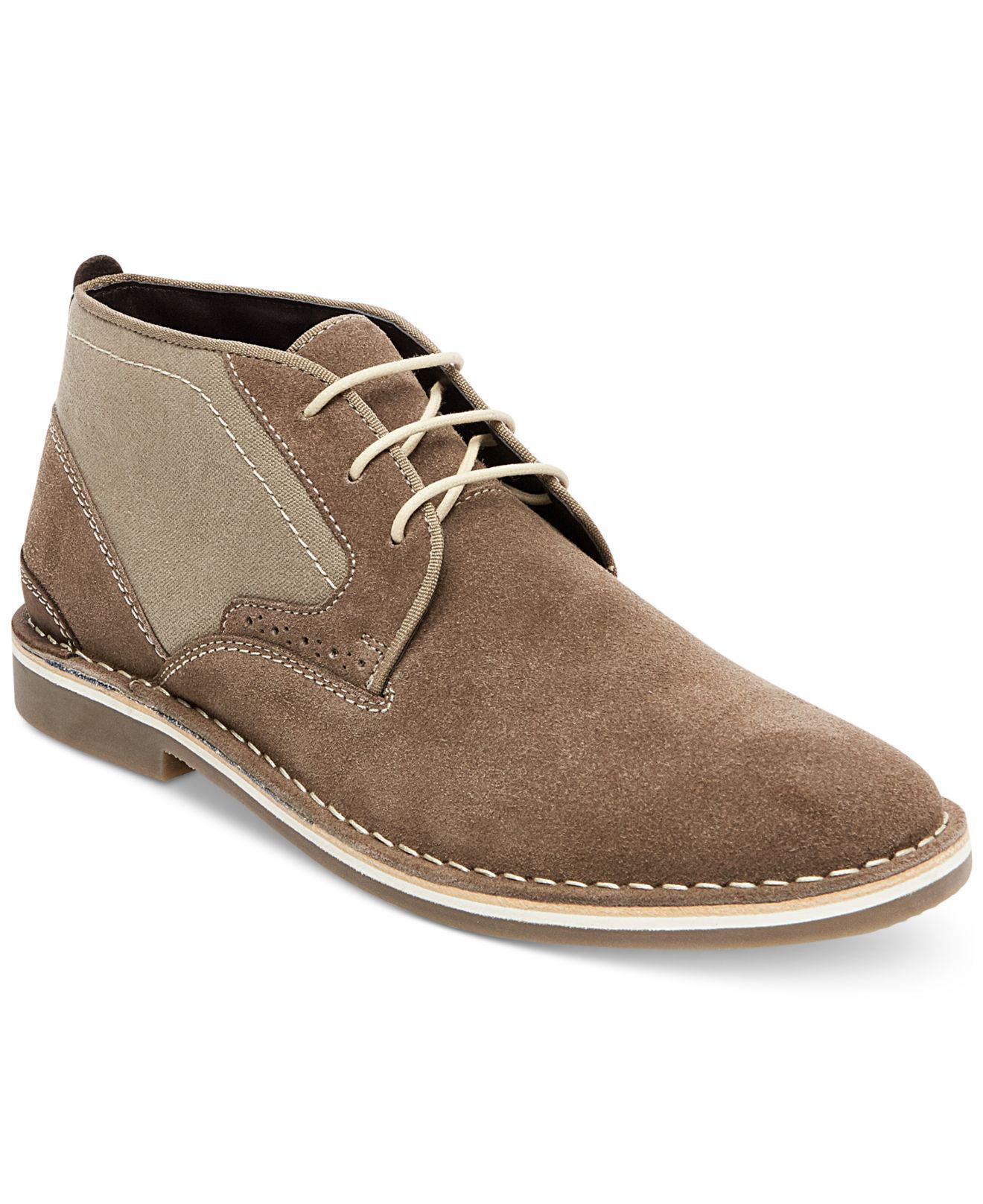 Steve Madden Steve Madden Men Presly Chukka Boot Khaki Leather Hot Sale Online