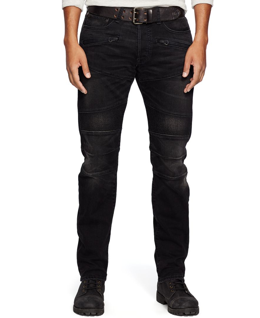Available In Black, Light Blue Wash And Medium Wash Button Closure Zip Fly Pin Tuck Moto Detail Skinny Fit 60% Cotton 28% Polyester 10% Rayon 2% Spandex.
