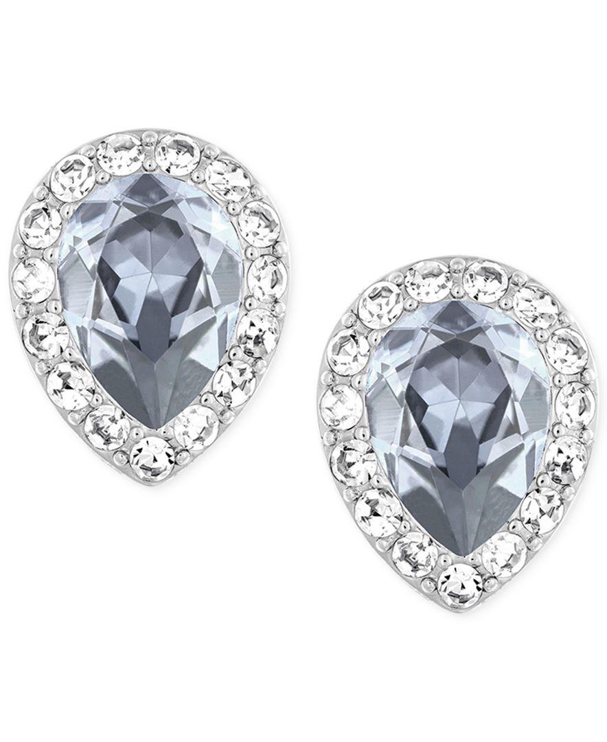 1ad0ca54c Lyst - Swarovski Rhodium-plated Christie Pear Crystal Earrings in ...