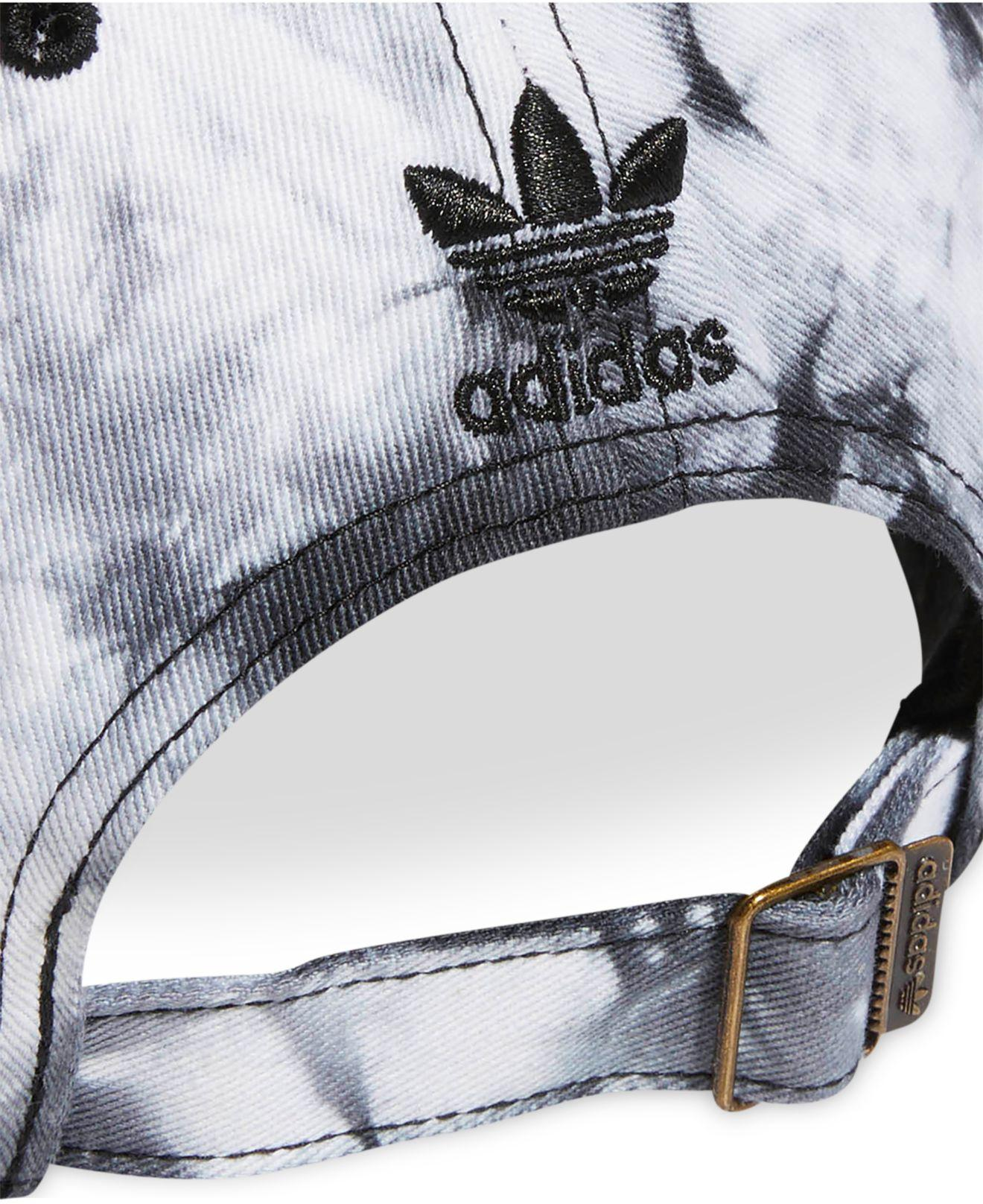 62c293846 Lyst - adidas Originals Cotton Relaxed Tie-dyed Strapback Cap