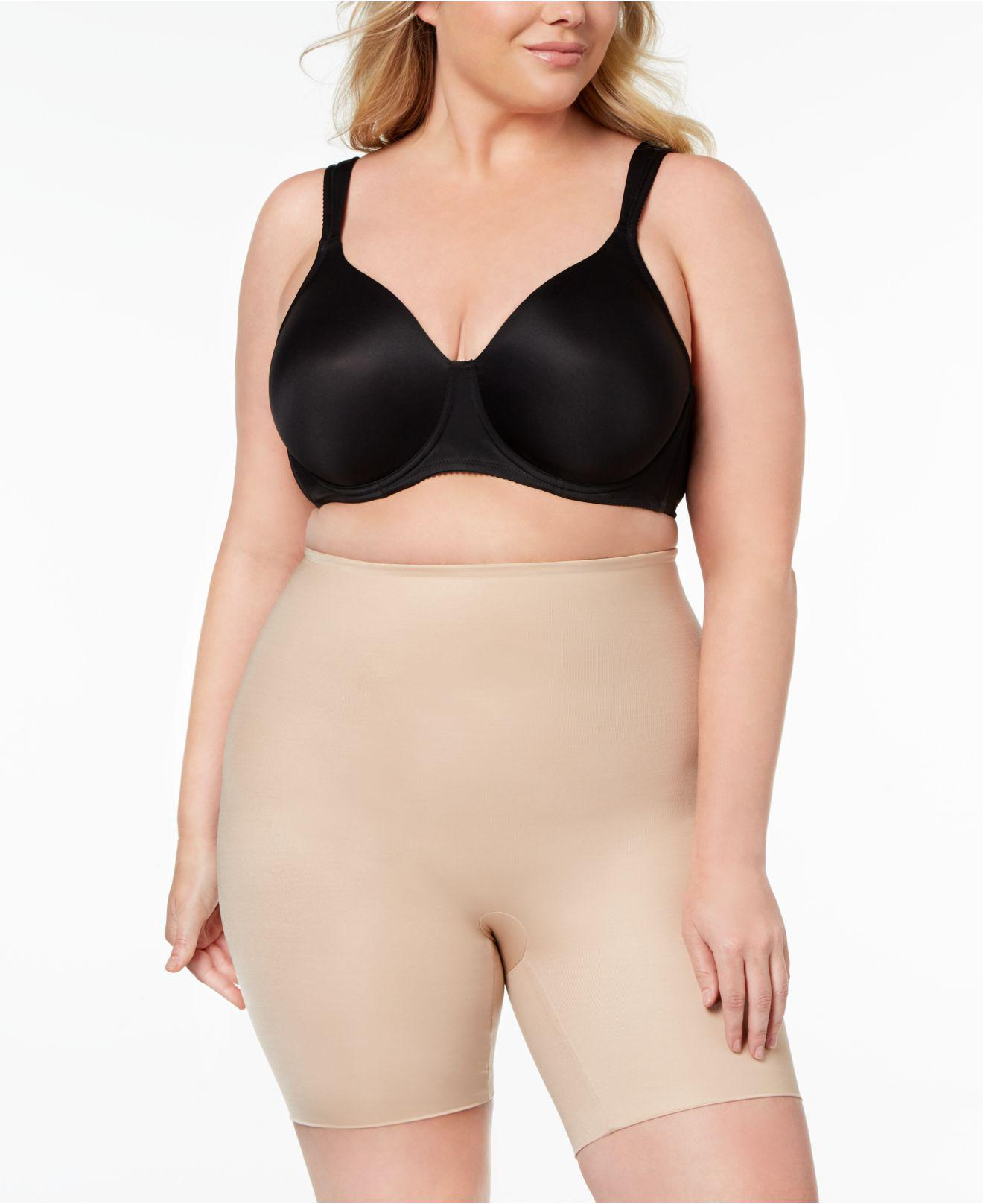 b887f275e4 Lyst - Spanx Plus Size Firm-control Double-layered Thigh Slimmer 10131p in  Natural