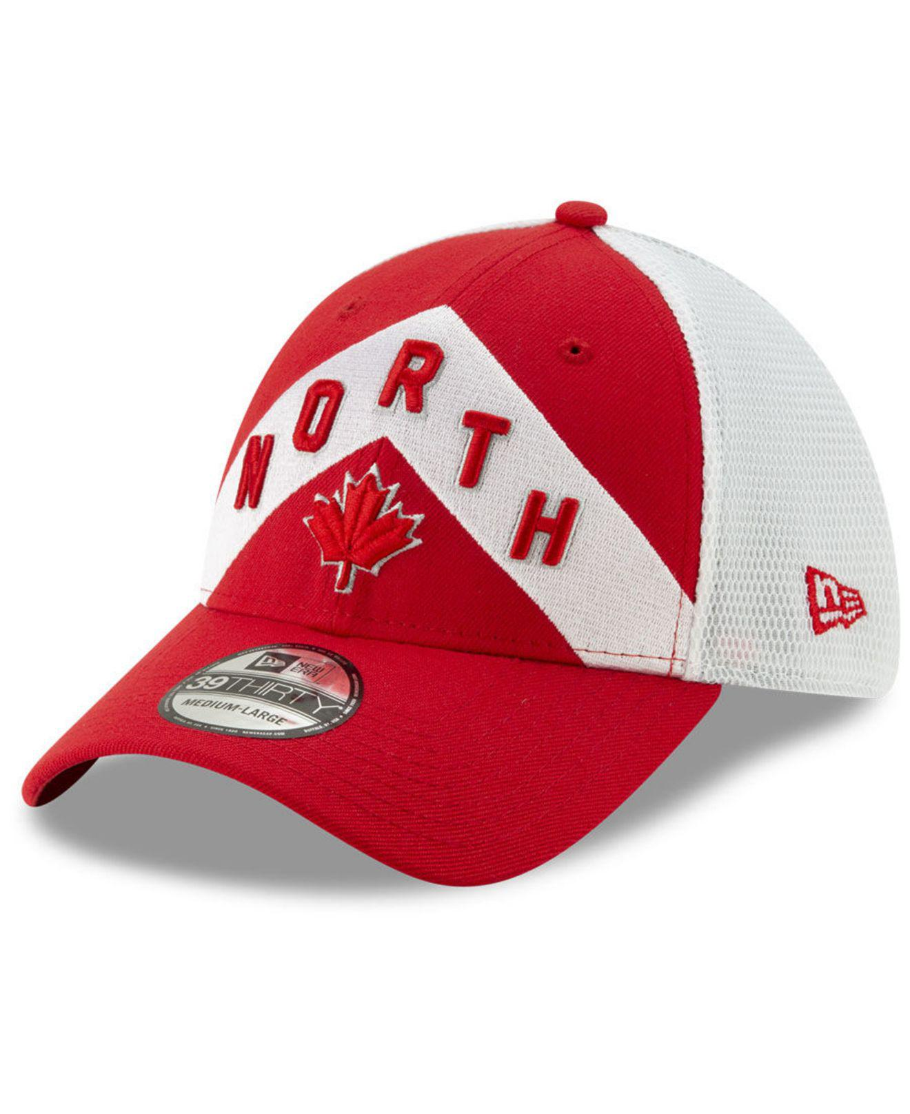 half off 18a40 a252e KTZ Toronto Raptors Earned Edition 39thirty Cap in Red for Men - Lyst