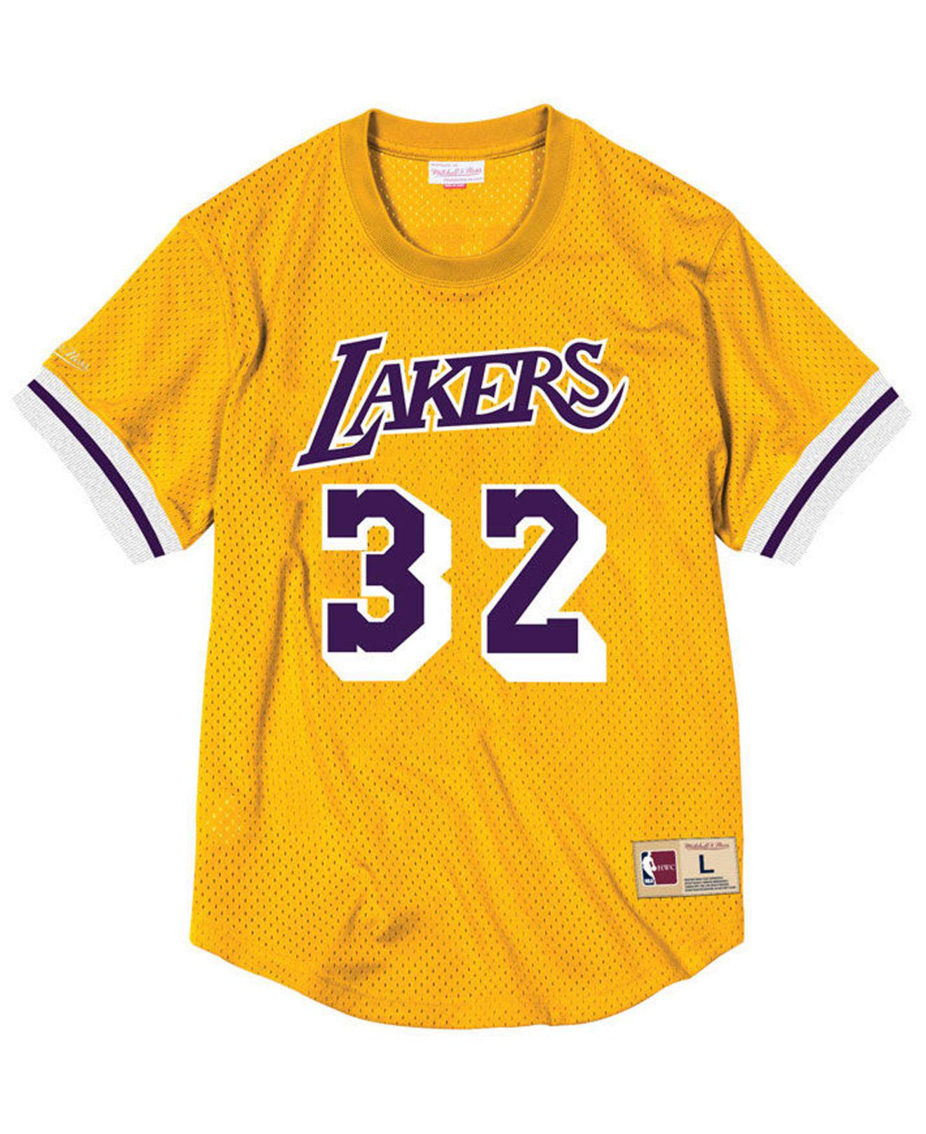 4874f70ee Mitchell   Ness Magic Johnson Los Angeles Lakers Name And Number ...