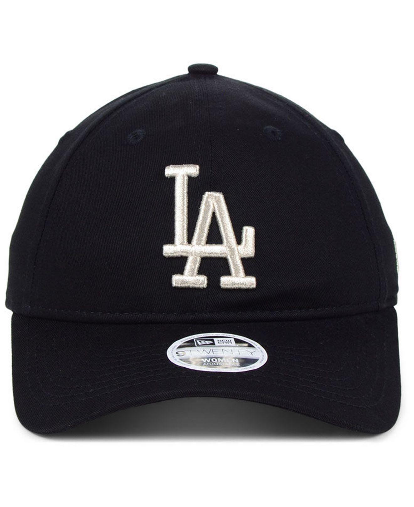 sports shoes 11618 19810 KTZ - Black Los Angeles Dodgers Foil Script Hook 9twenty Strapback Cap -  Lyst. View fullscreen
