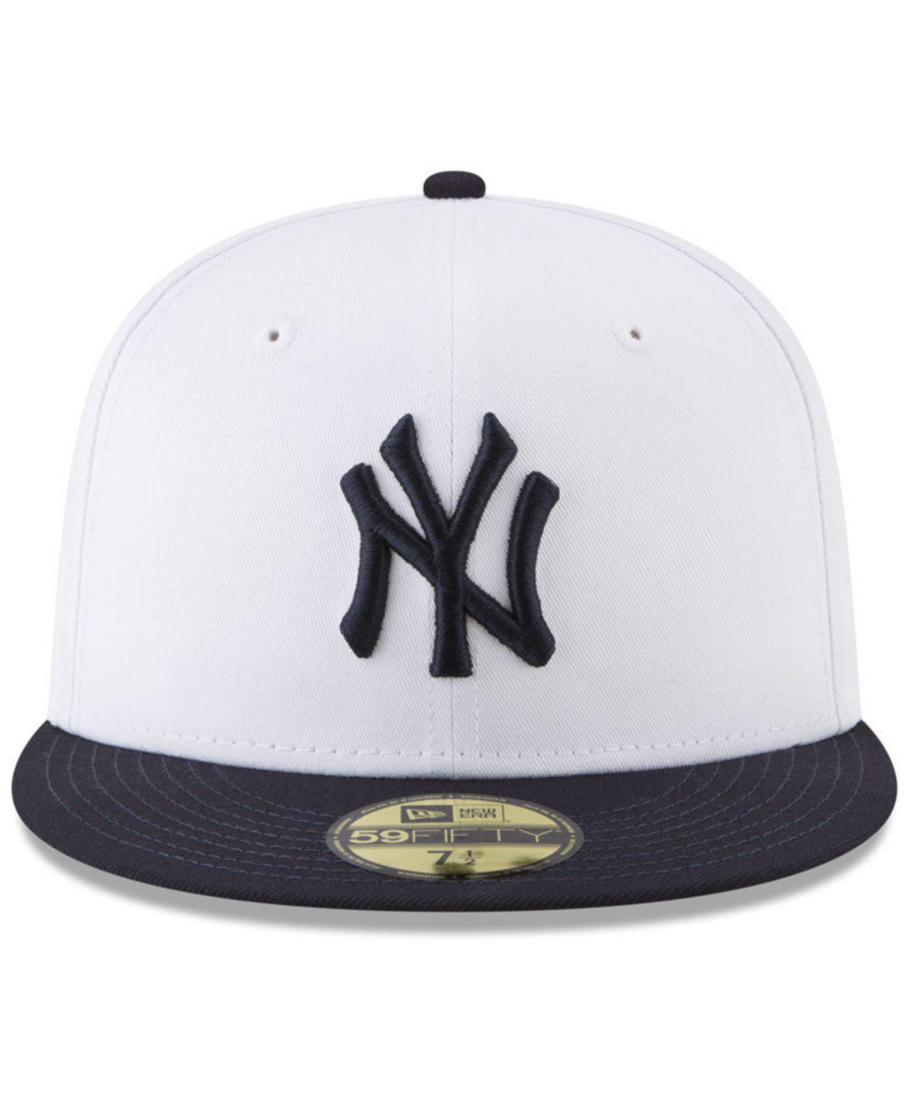Lyst - Ktz New York Yankees Batting Practice Wool Flip 59fifty Fitted Cap  in White for Men dfe49f2519ad