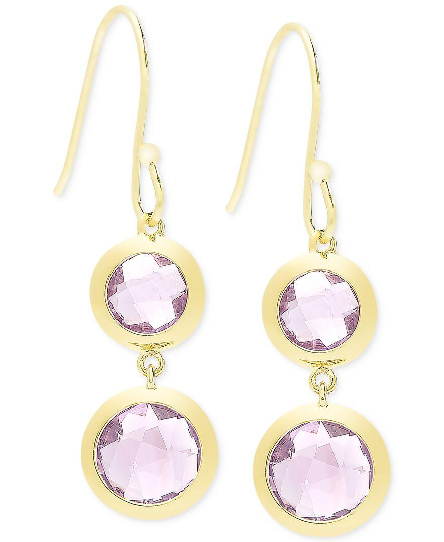 macy s amethyst earrings macy s townsend amethyst 9 ct t w bezel drop 6257