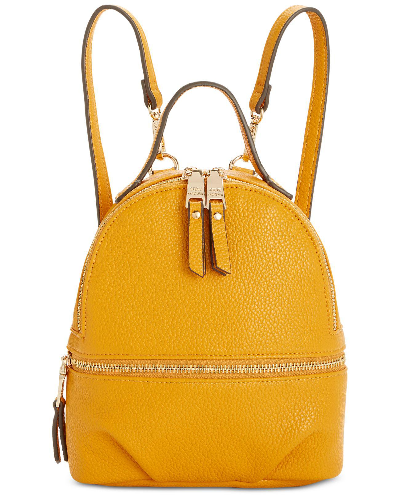 fe20be4b91 Steve Madden Jacki Convertible Backpack in Yellow - Lyst