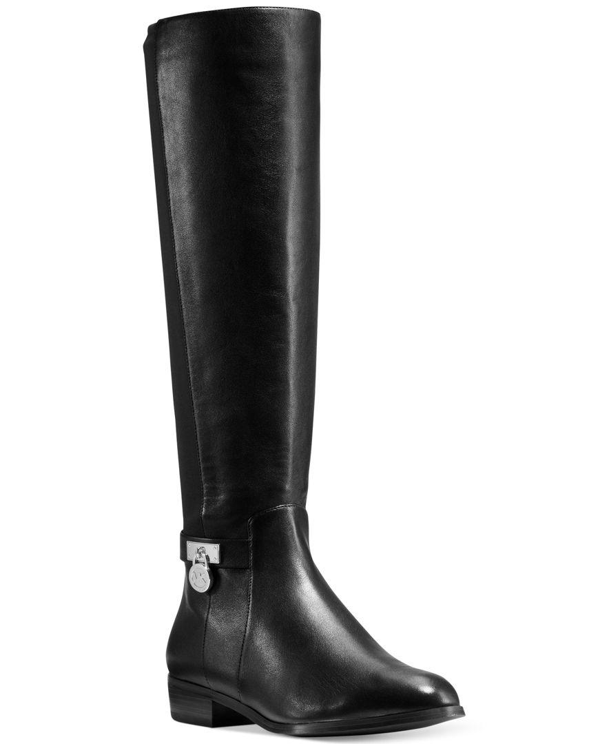 2ba8b663fb Michael Kors Hamilton 50/50 Boots in Black - Lyst