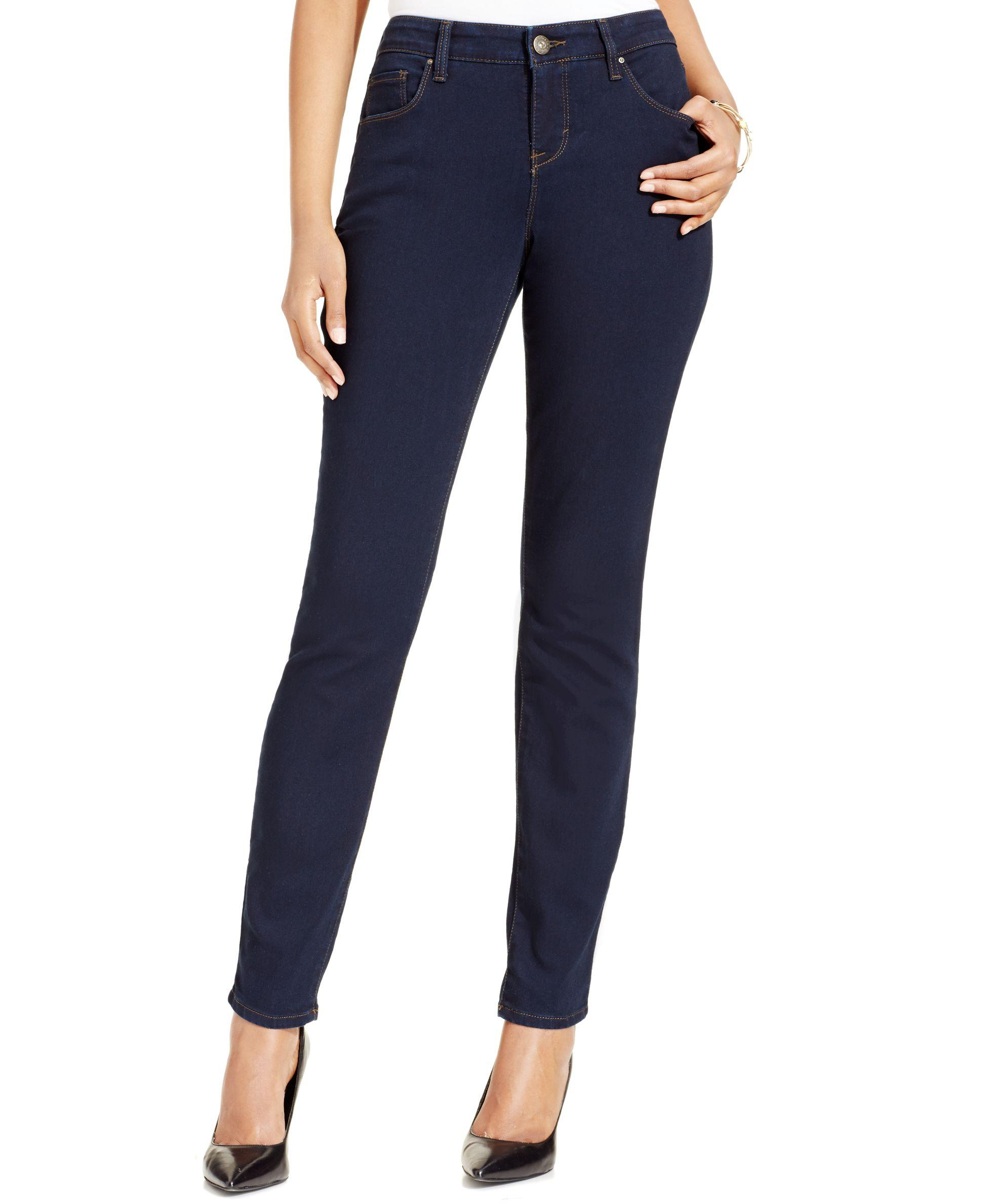Style Co Curvy Fit Skinny Jeans Only At Macy 39 S In Blue Lyst