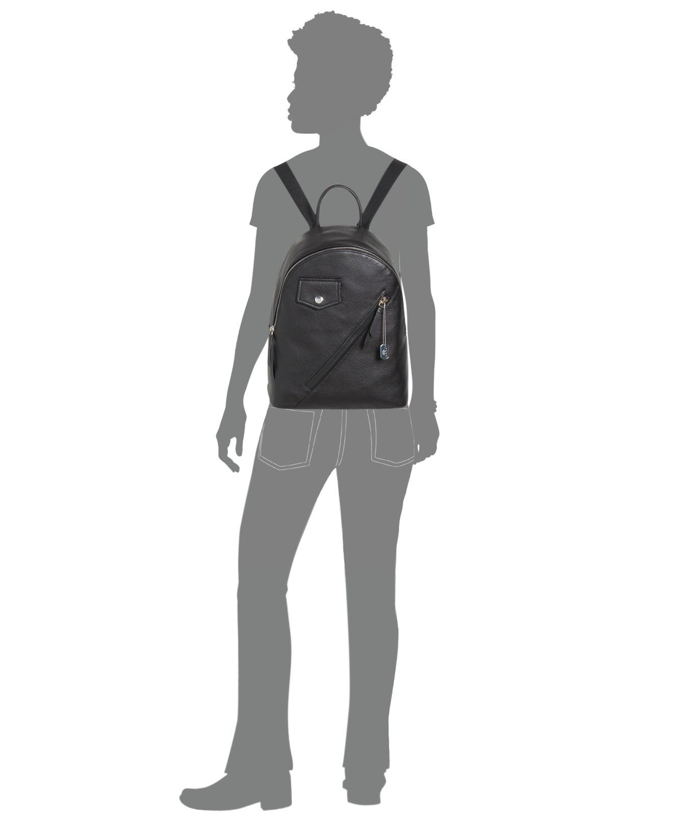 aa5daba63 DKNY Jagger Leather Backpack, Created For Macy's in Black - Lyst