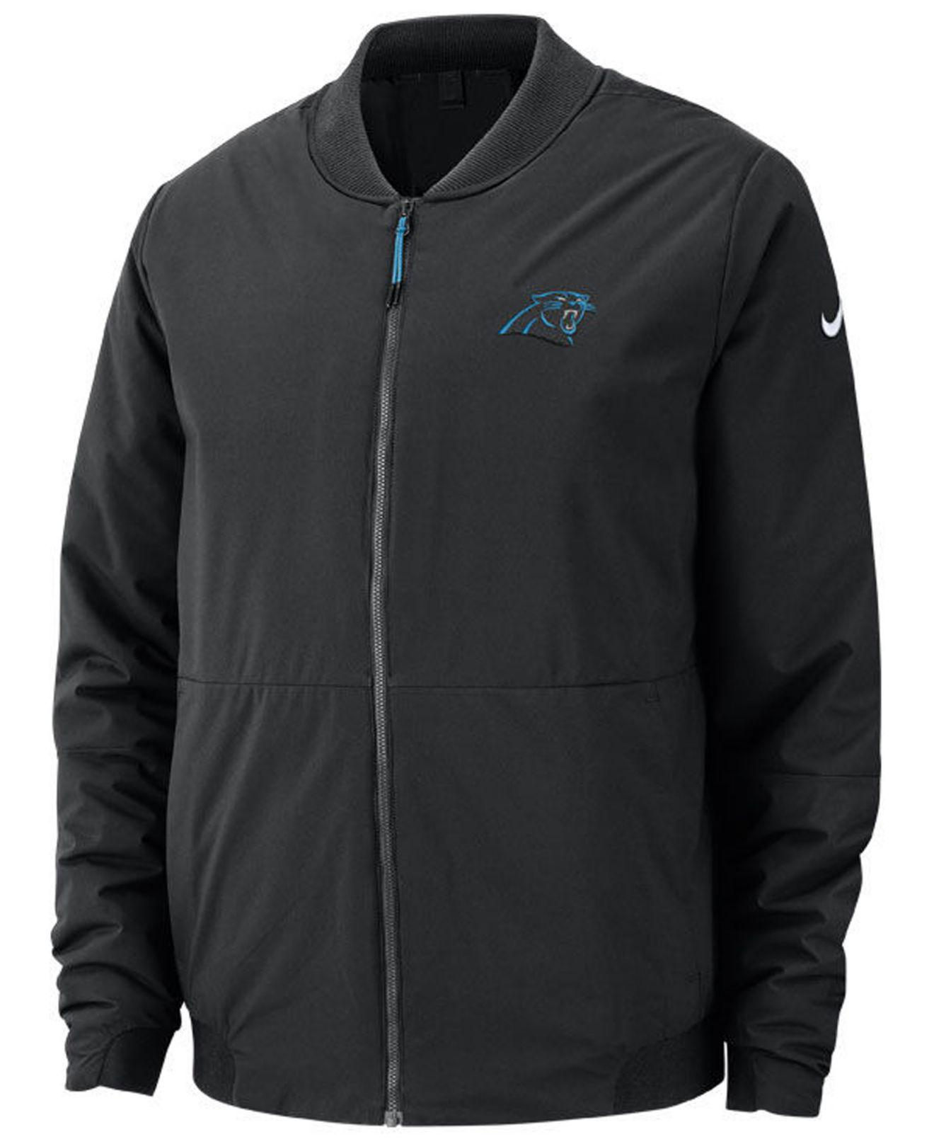 Lyst - Nike Carolina Panthers Bomber Jacket in Black for Men e9f6ed2e6073