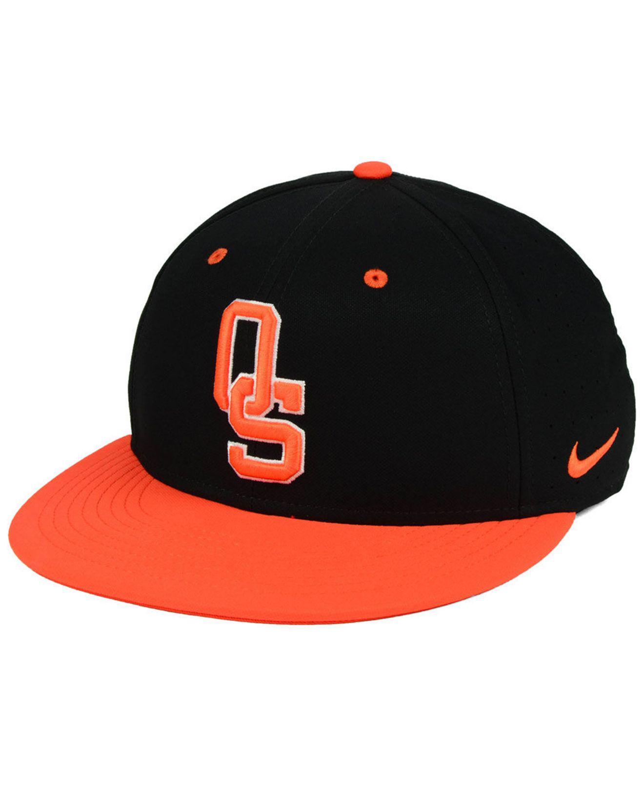 59b57f08289 Nike. Men s Black Oklahoma State Cowboys Aerobill True Fitted Baseball Cap