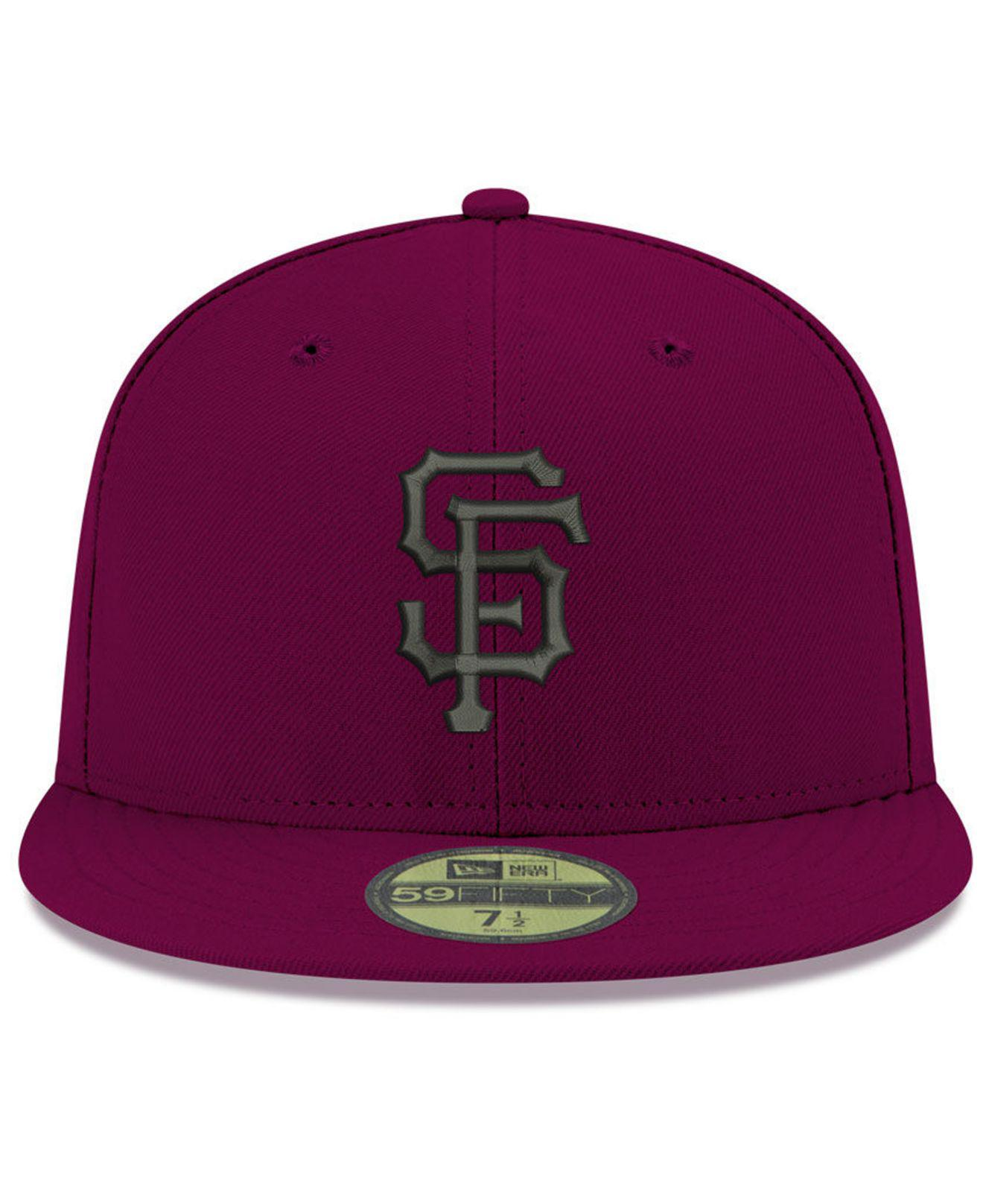 huge discount c87e2 a7410 Lyst - KTZ San Francisco Giants Reverse C-dub 59fifty Fitted Cap in ...