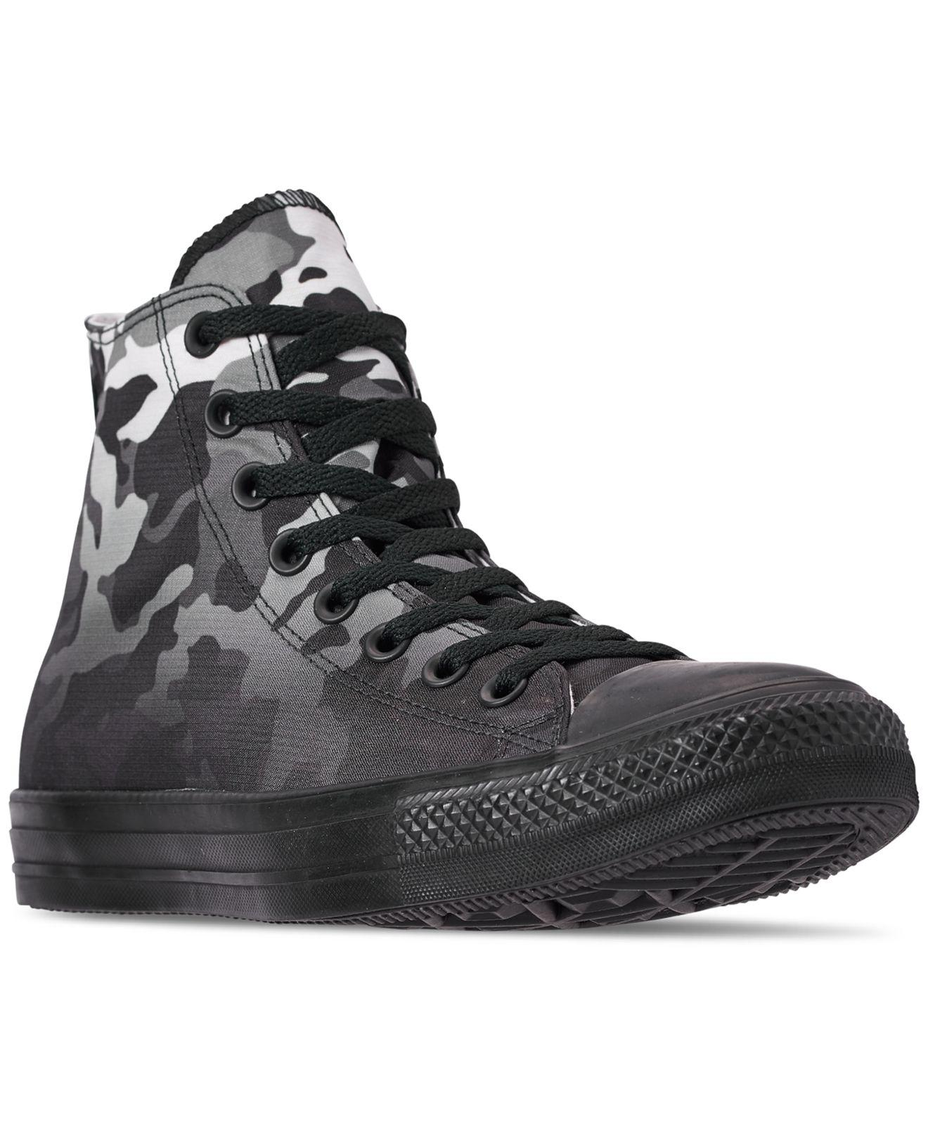 d413cefdbe7 Converse. Men s Black Chuck Taylor All Star Gradient Camo High Top Casual  Sneakers ...