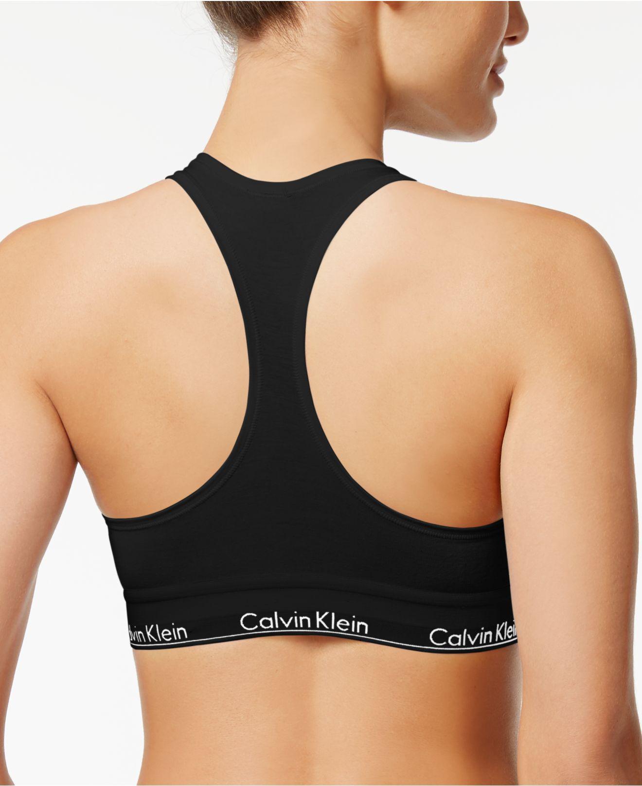 333ea943872 Lyst - Calvin Klein Modern Cotton Bralette F3785 in Black