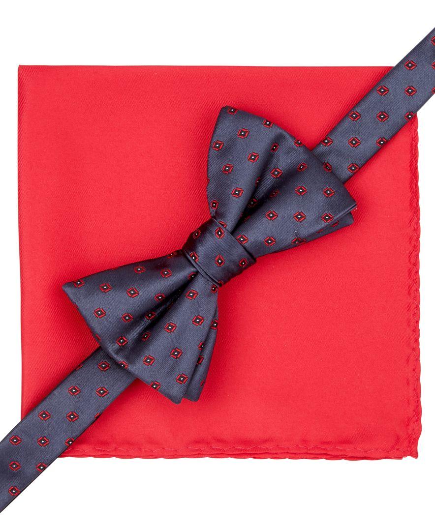alfani spectrum hilliard geo bow tie and pocket square set