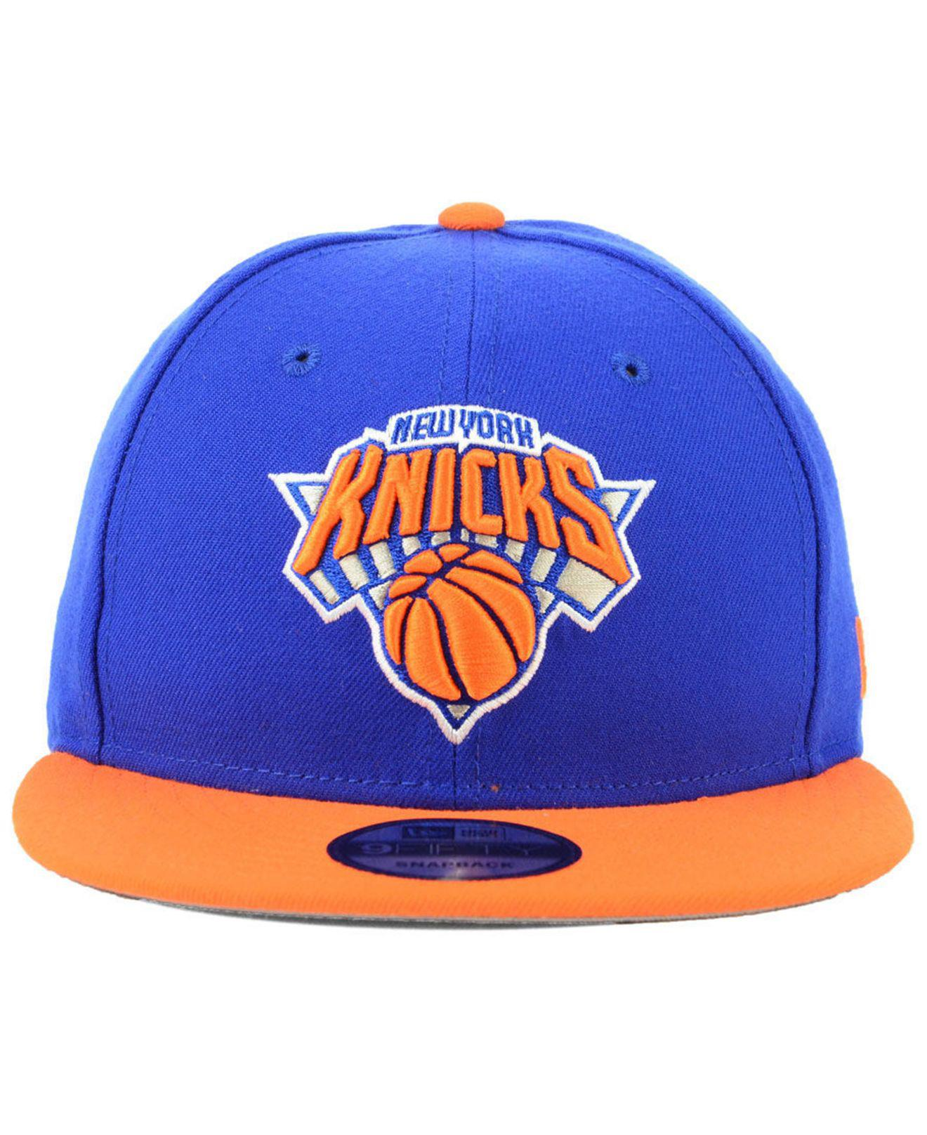 the best attitude ce9df d2052 ... where to buy lyst ktz new york knicks basic 2 tone 9fifty snapback cap  in orange