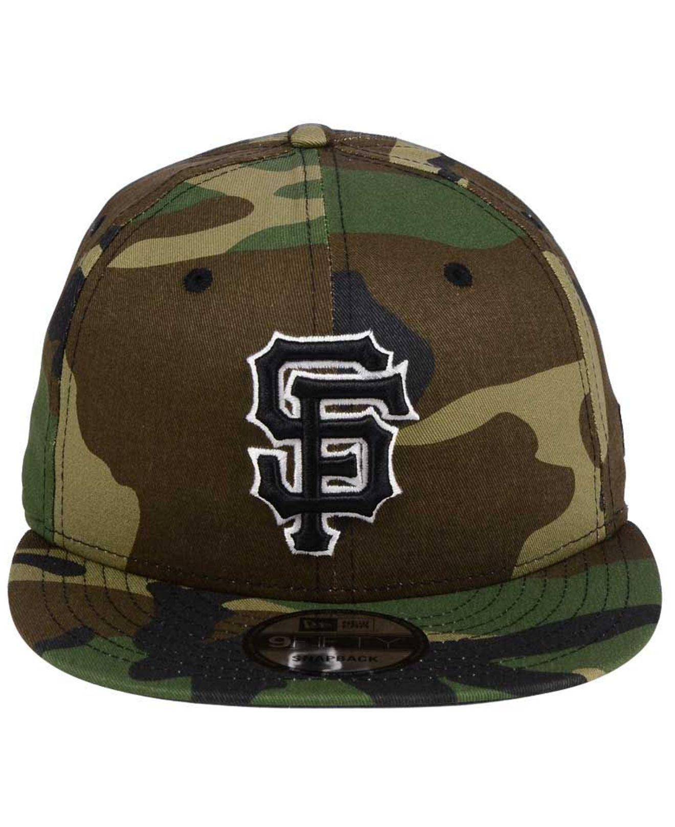 pretty nice 3f78f 8bc91 KTZ San Francisco Giants Woodland Black white 9fifty Snapback Cap in Black  for Men - Lyst