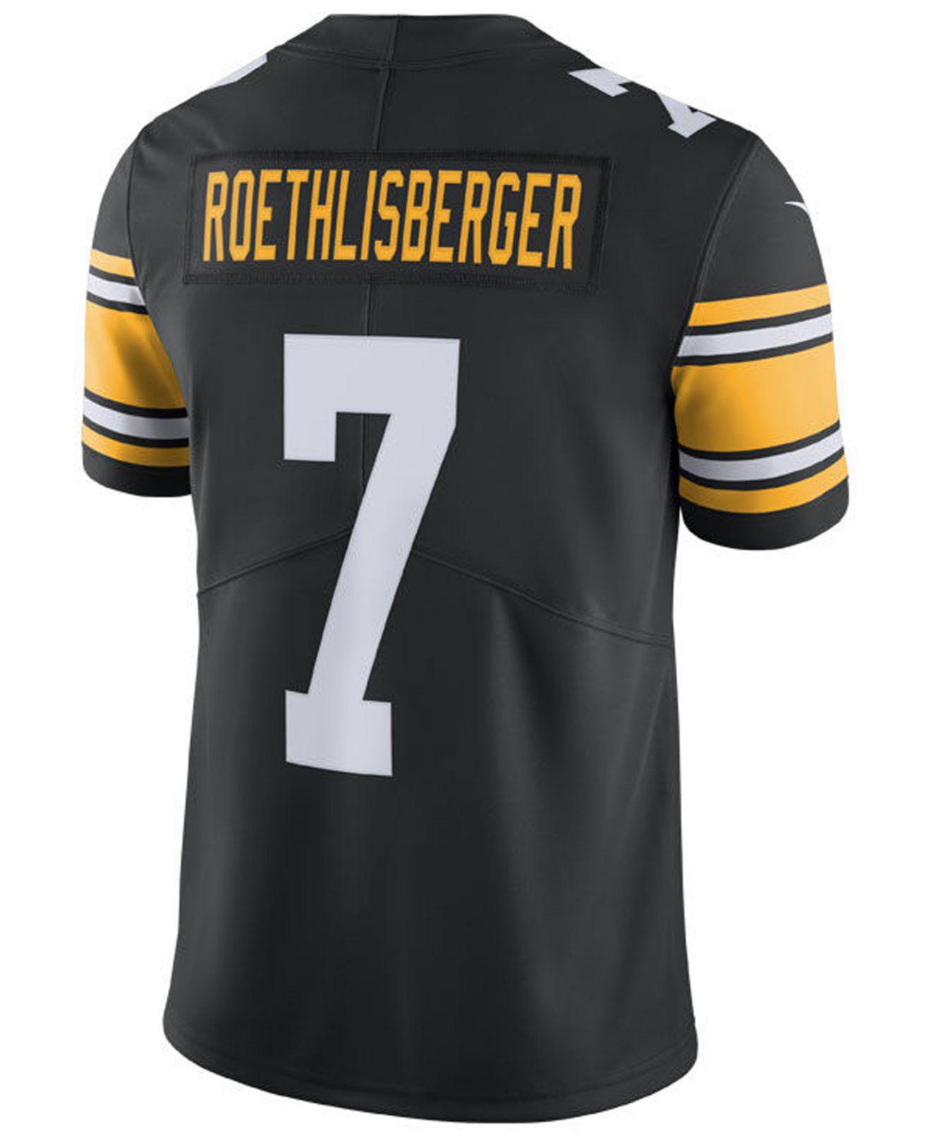 6681ef529 Lyst - Nike Ben Roethlisberger Pittsburgh Steelers Vapor Untouchable  Limited Jersey in Black for Men