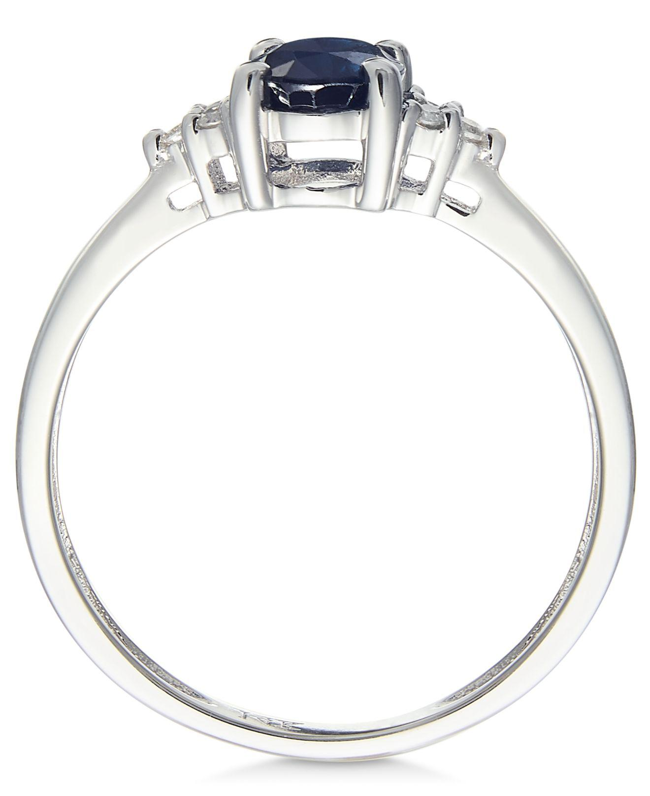 2ad149460f8e Lyst - Macy'S Sapphire (9/10 Ct. T.w.) And Diamond Accent Ring In 14k White  Gold in Blue