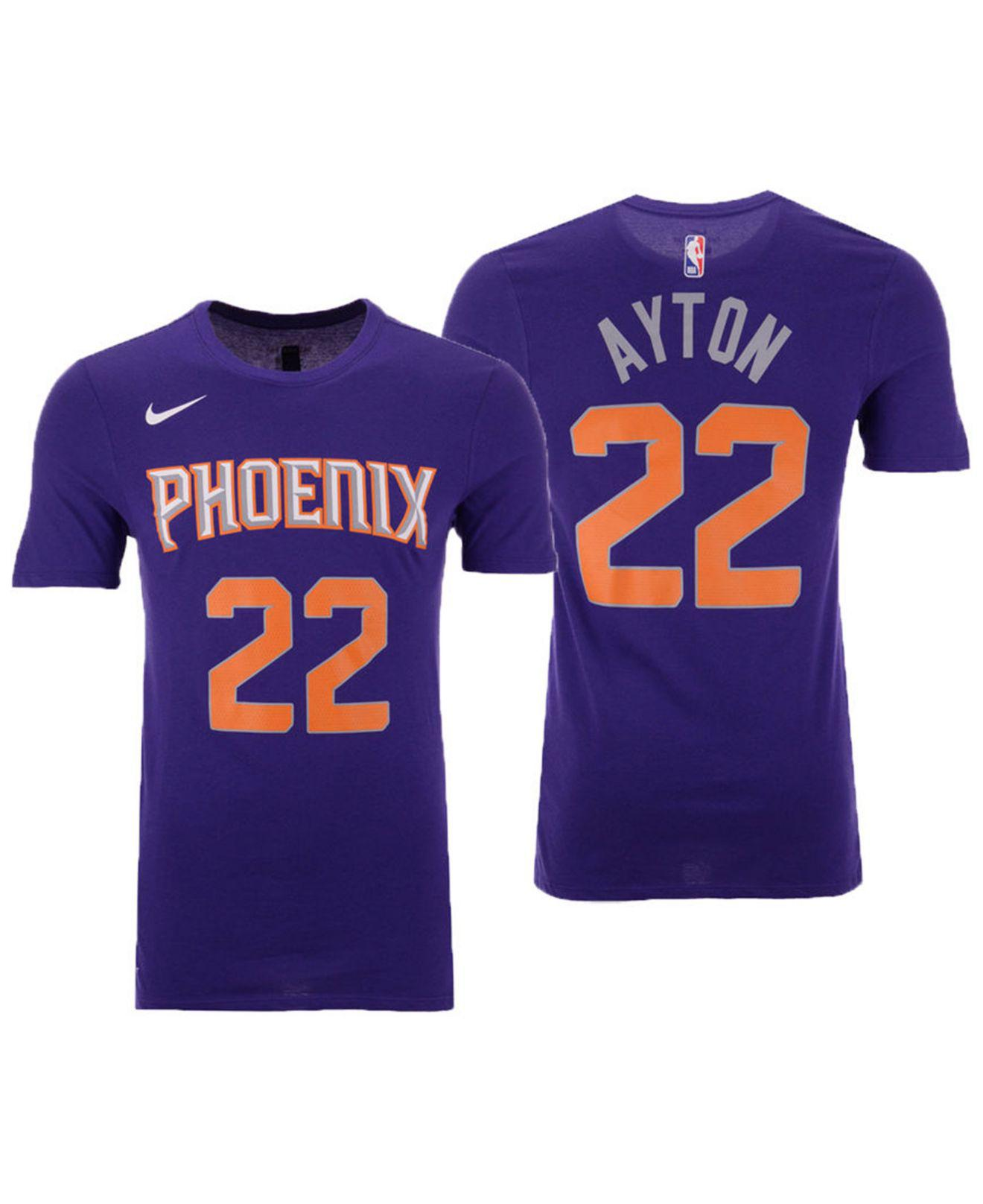 7da45ed9b Nike Deandre Ayton Phoenix Suns Icon Player T-shirt in Purple for ...