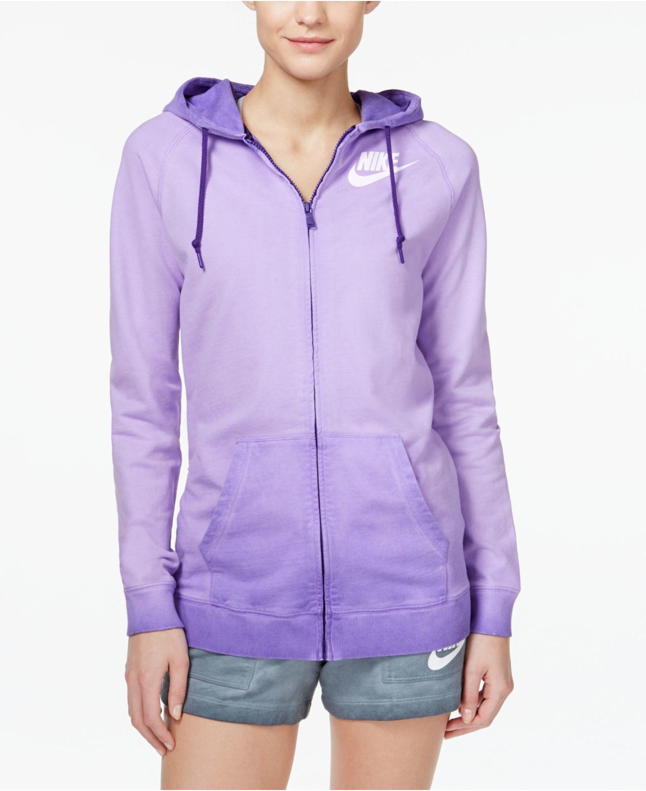 29a1c545e84f Lyst - Nike Solstice Boyfriend Zip Hoodie in Purple