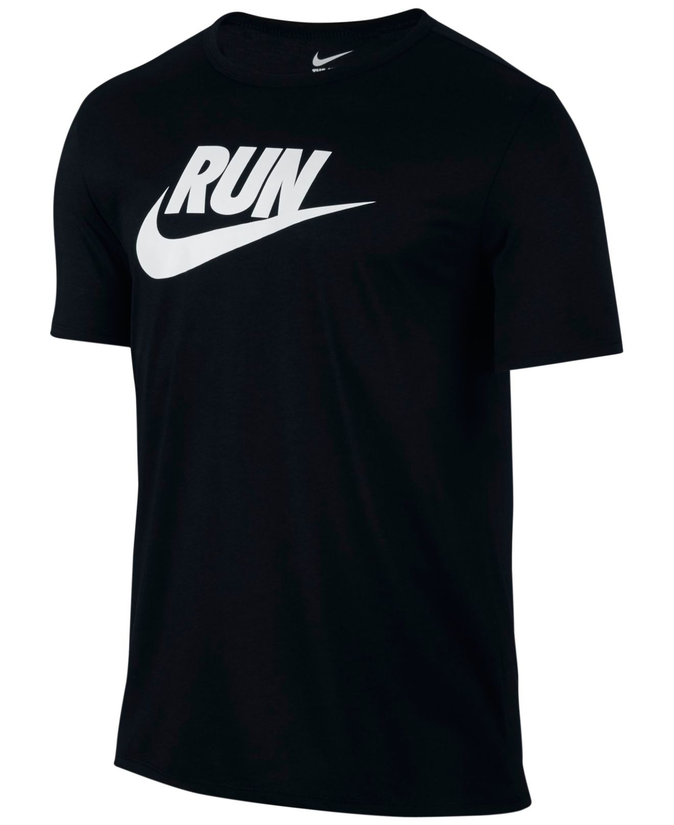 Nike Men 39 S Running Graphic Dri Fit T Shirt In Black For