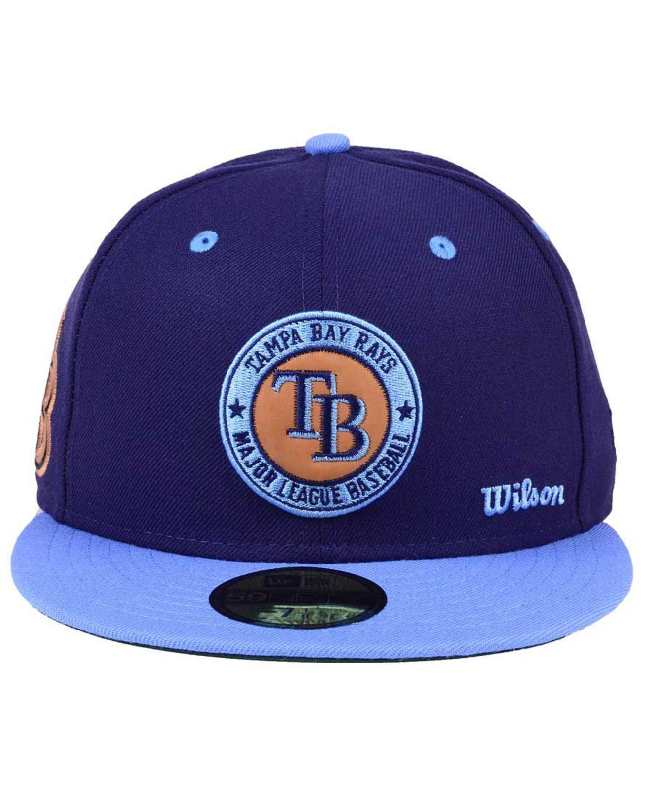wholesale dealer 6edf3 f65b8 ... inexpensive lyst ktz x wilson circle patch 59fifty cap in blue for men  b4526 3091b