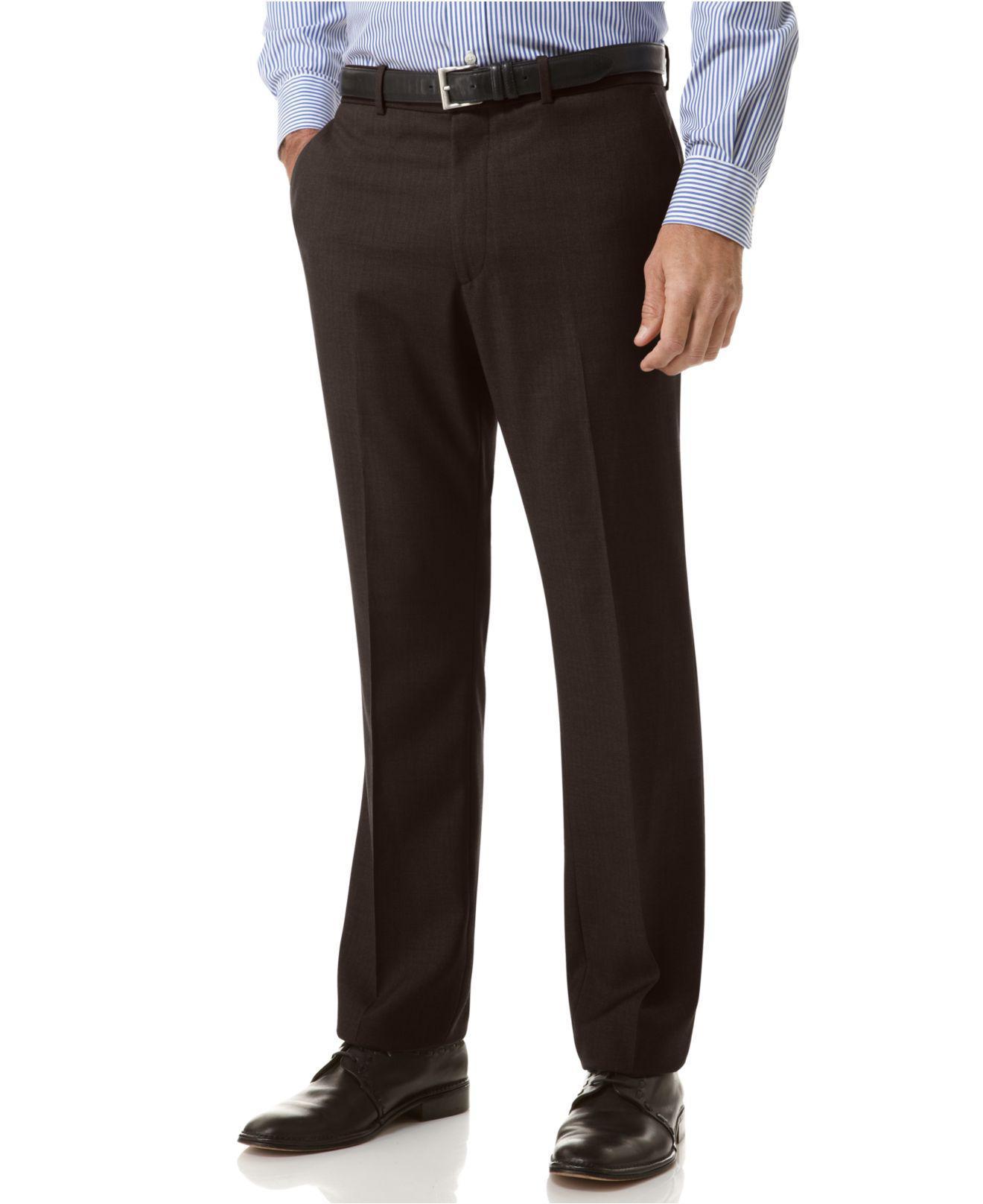 767449b83d Perry Ellis - Multicolor Portfolio Slim Fit Flat Front No-iron Dress Pants  for Men