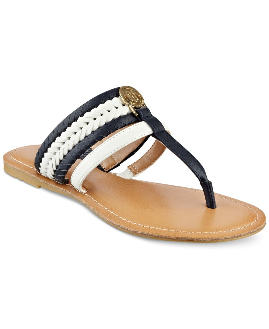 713353cf6 Tommy Hilfiger Lady Flat Thong Sandals In Blue