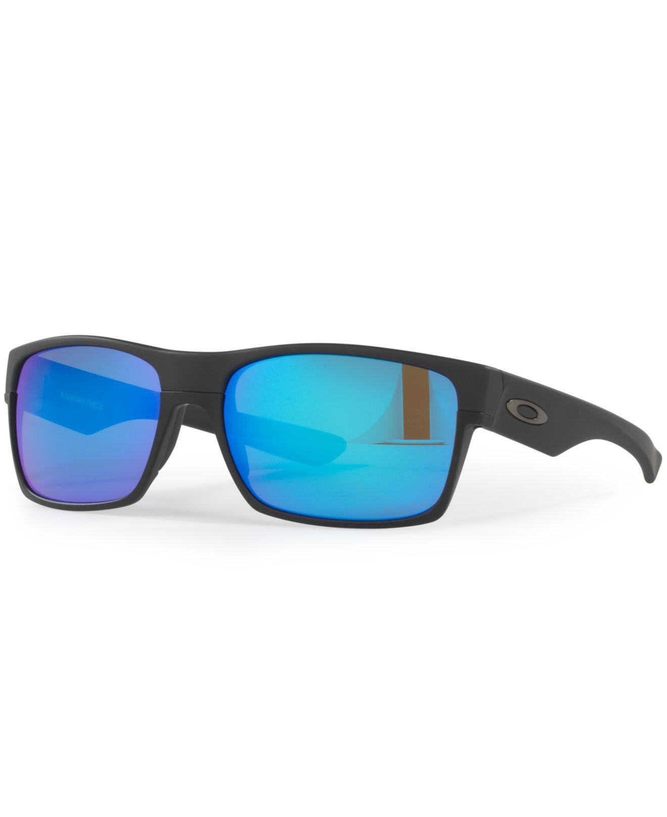 432349c298 Oakley. Men s Blue Polarized Twoface Sunglasses ...