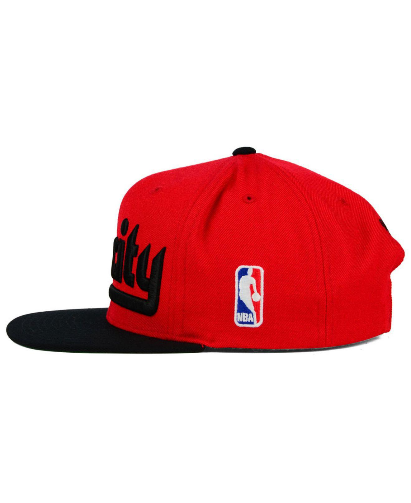 quality design 02f00 a8782 Mitchell   Ness - Red Nba Xl Logo Snapback Cap for Men - Lyst