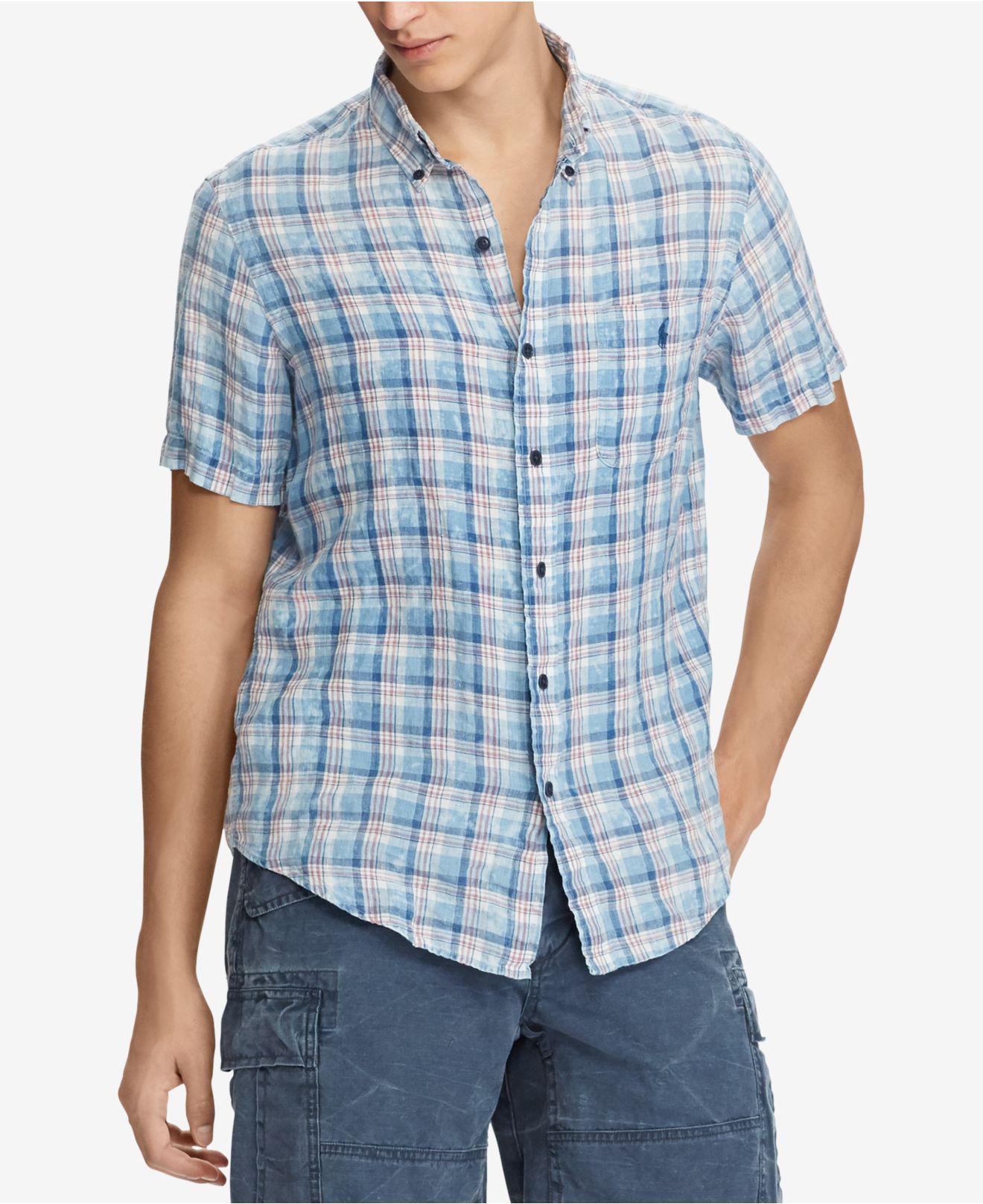 f49d0045 sale lyst polo ralph lauren plaid shirt for men 72d24 a4562
