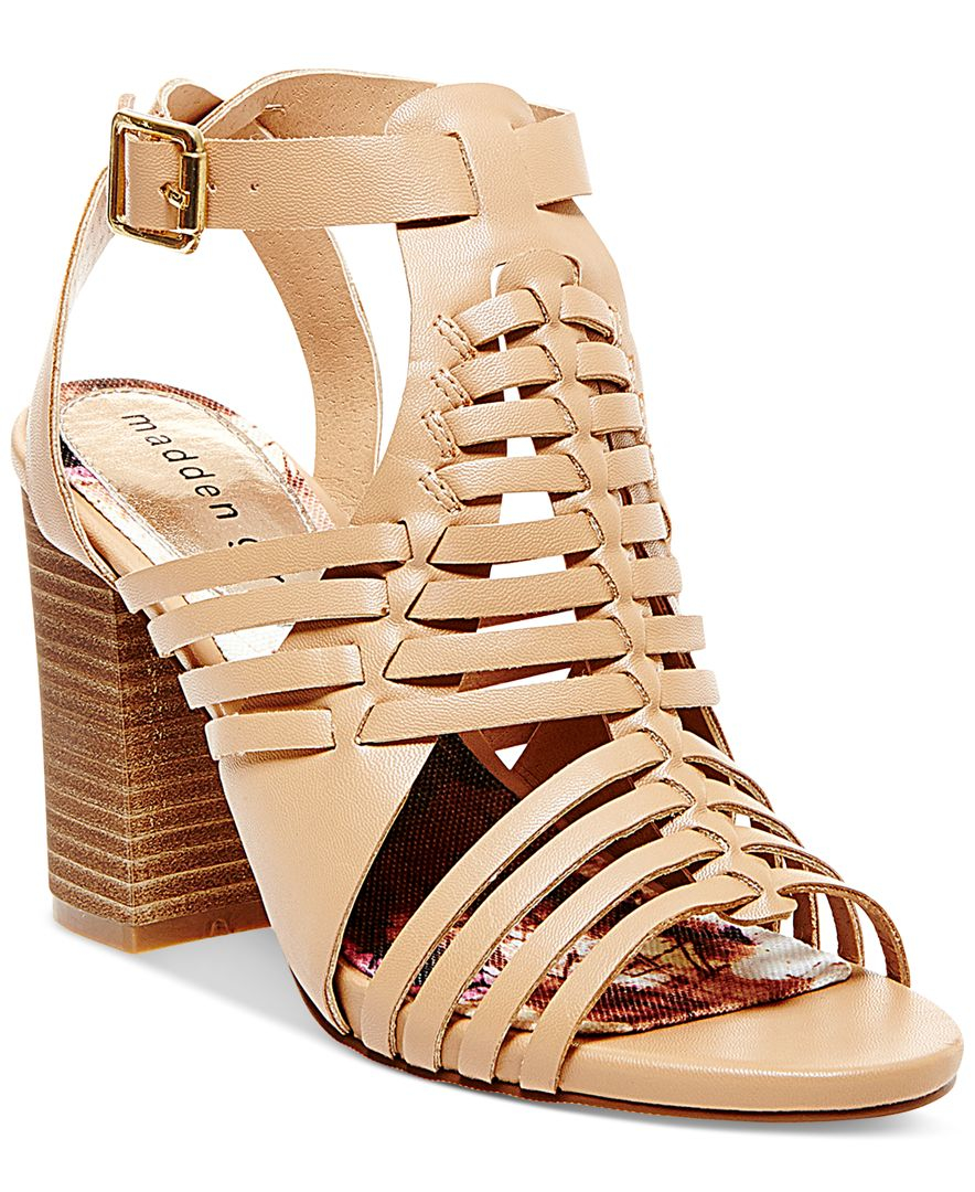 54ea4a7ca14 Lyst - Madden Girl Remie Huarache City Sandals in Pink