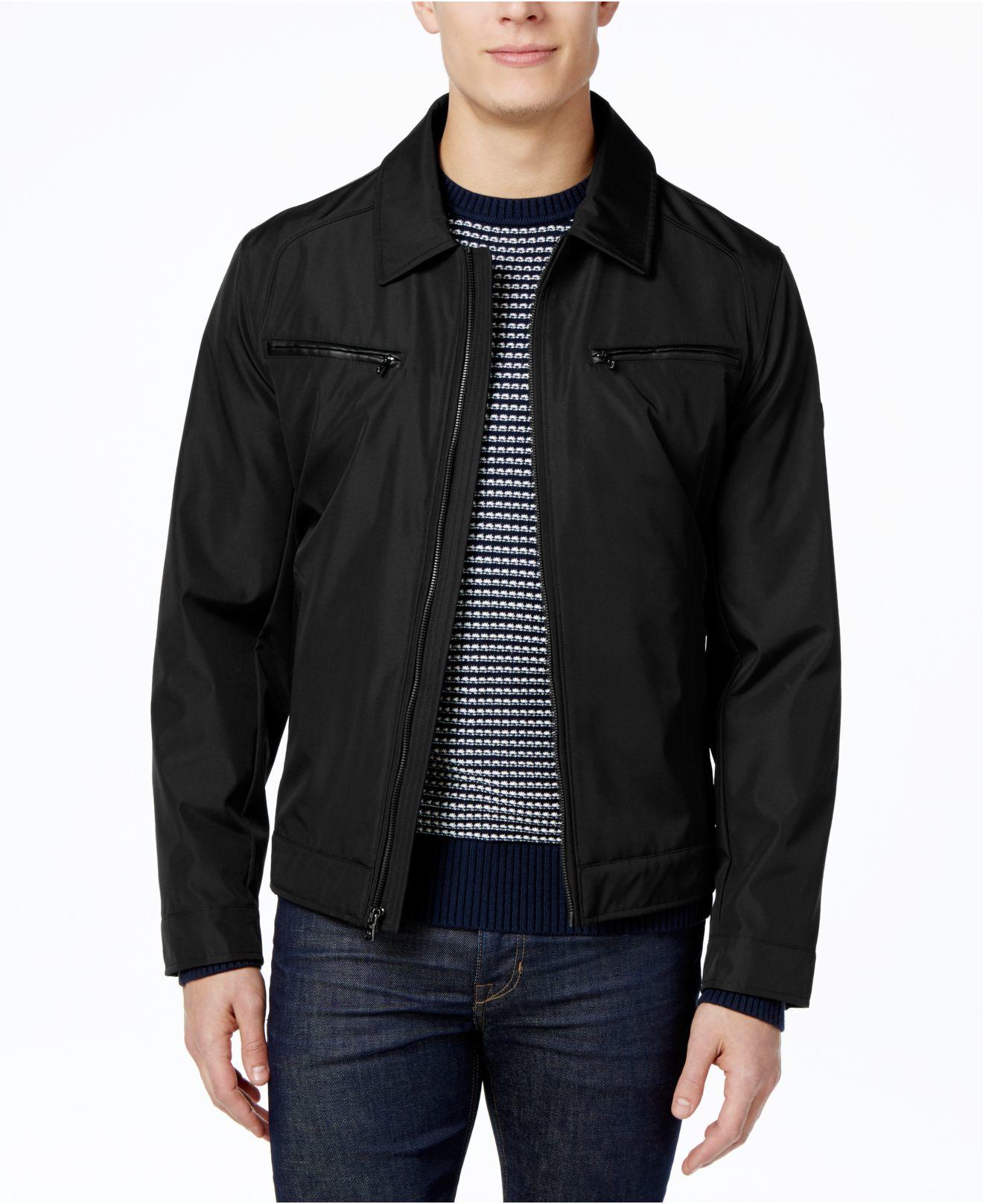 michael kors hipster shell jacket in black for men lyst. Black Bedroom Furniture Sets. Home Design Ideas